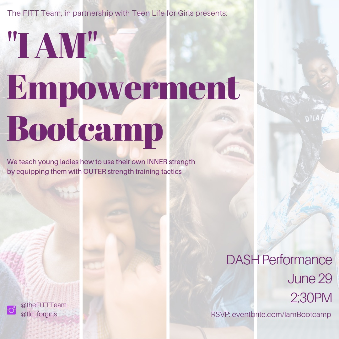 "The ""I AM"" Empowerment Bootcamp - Please show your community support by joining us for the 1st of 5 events this summer! The ""I AM"" Empowerment bootcamp will focus on young women building confidence and self esteem through physical fitness! We want each young lady to leave knowing they are loved, wanted and supported by the community! Donations accepted are: teen clothes, books, school supplies, feminine hygiene products, teen accessories, etc! Please encourage your churches to attend as well!"