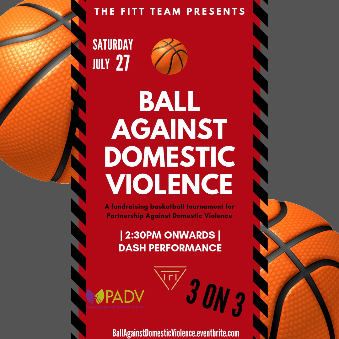 Ball Against Domestic Violence - Join The FITT Team for a fun-filled weekend event for you, your family and friends! Our 1st ever Basketball tournament raising money and clothing donations for a local Domestic Violence shelter, PADV, will be an event to remember!! We will be collecting basic living supplies for survivors affected by domestic abuse. There will be photo booths, fun activities for children, vendors, refreshments and a free swag bag full of awesome gifts from your favorite wellness brands!