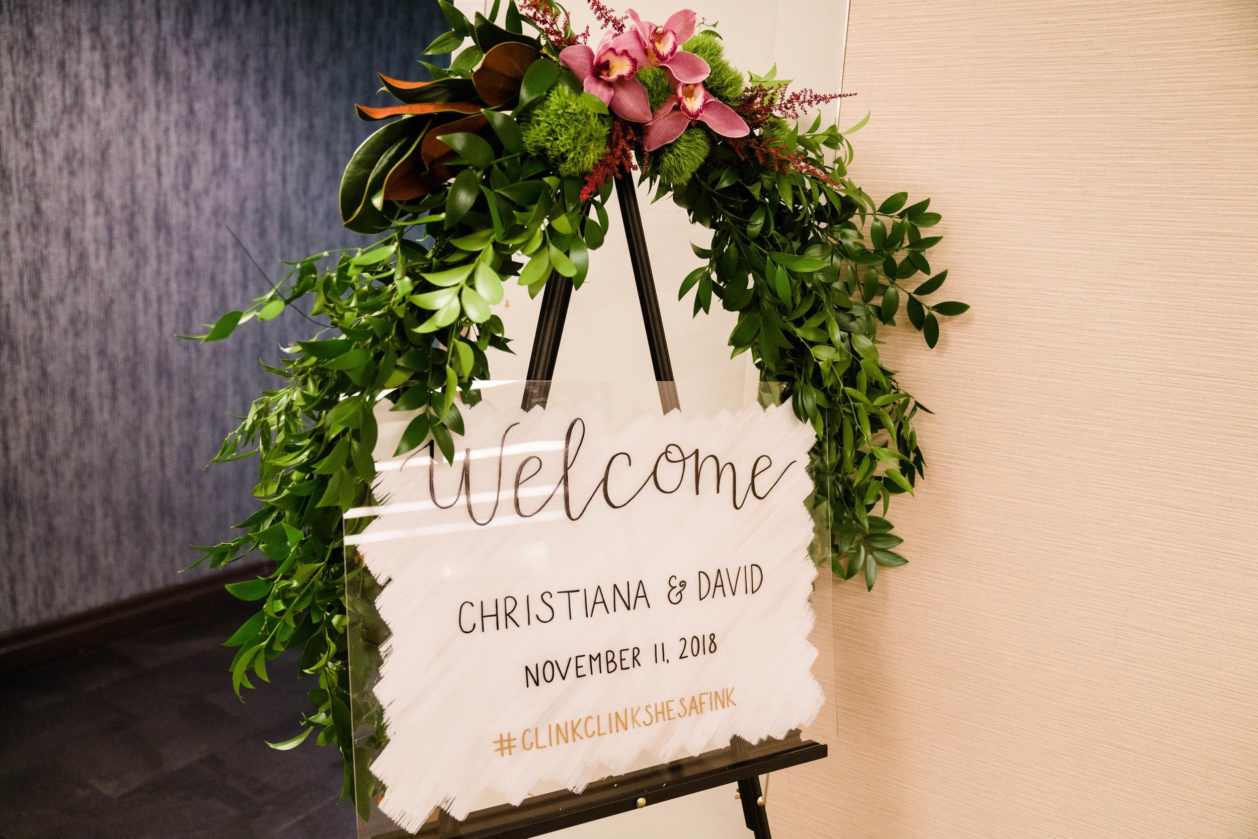 Modern Acrylic Wedding Welcome Sign