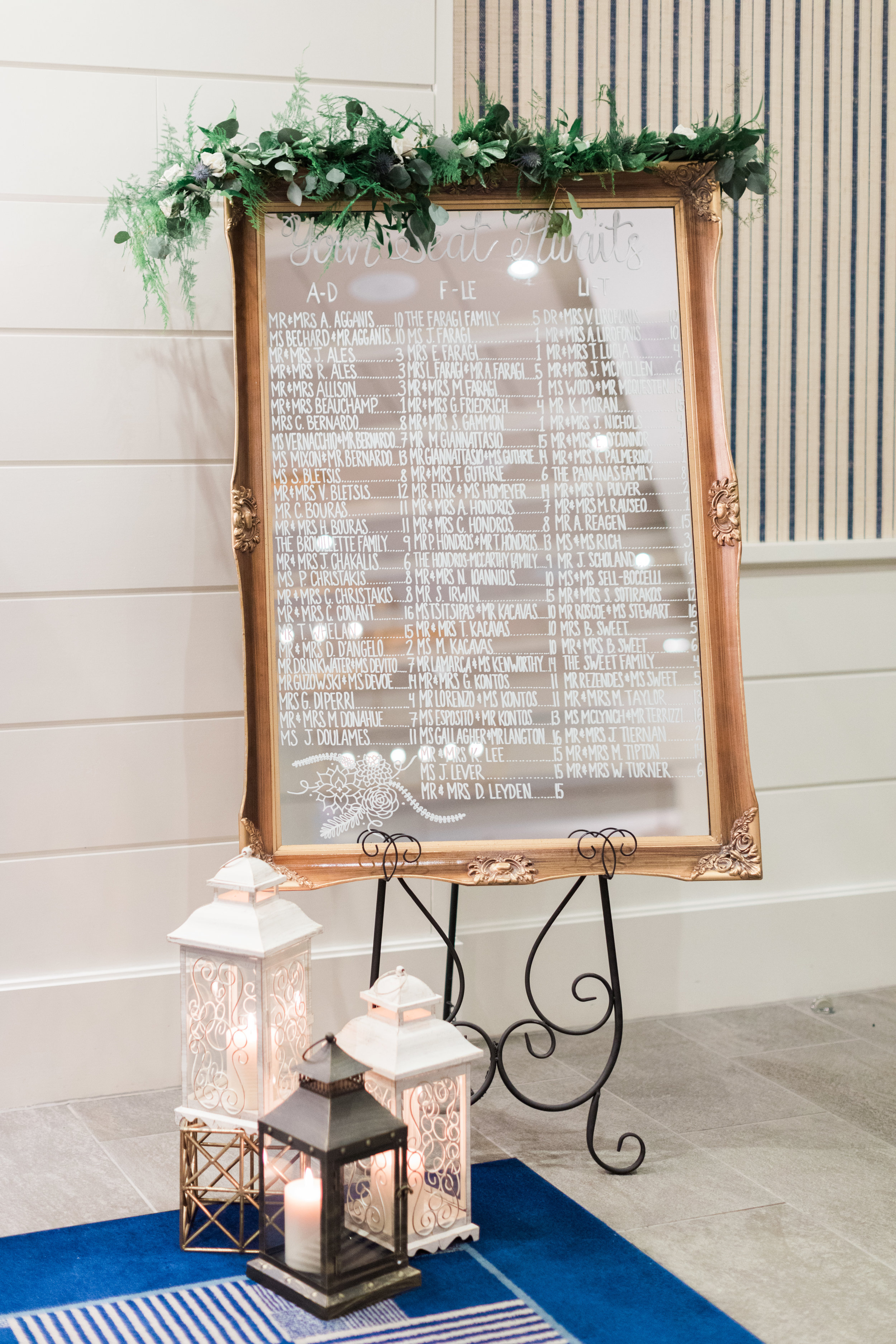 Gold Antique Mirror Seating Chart
