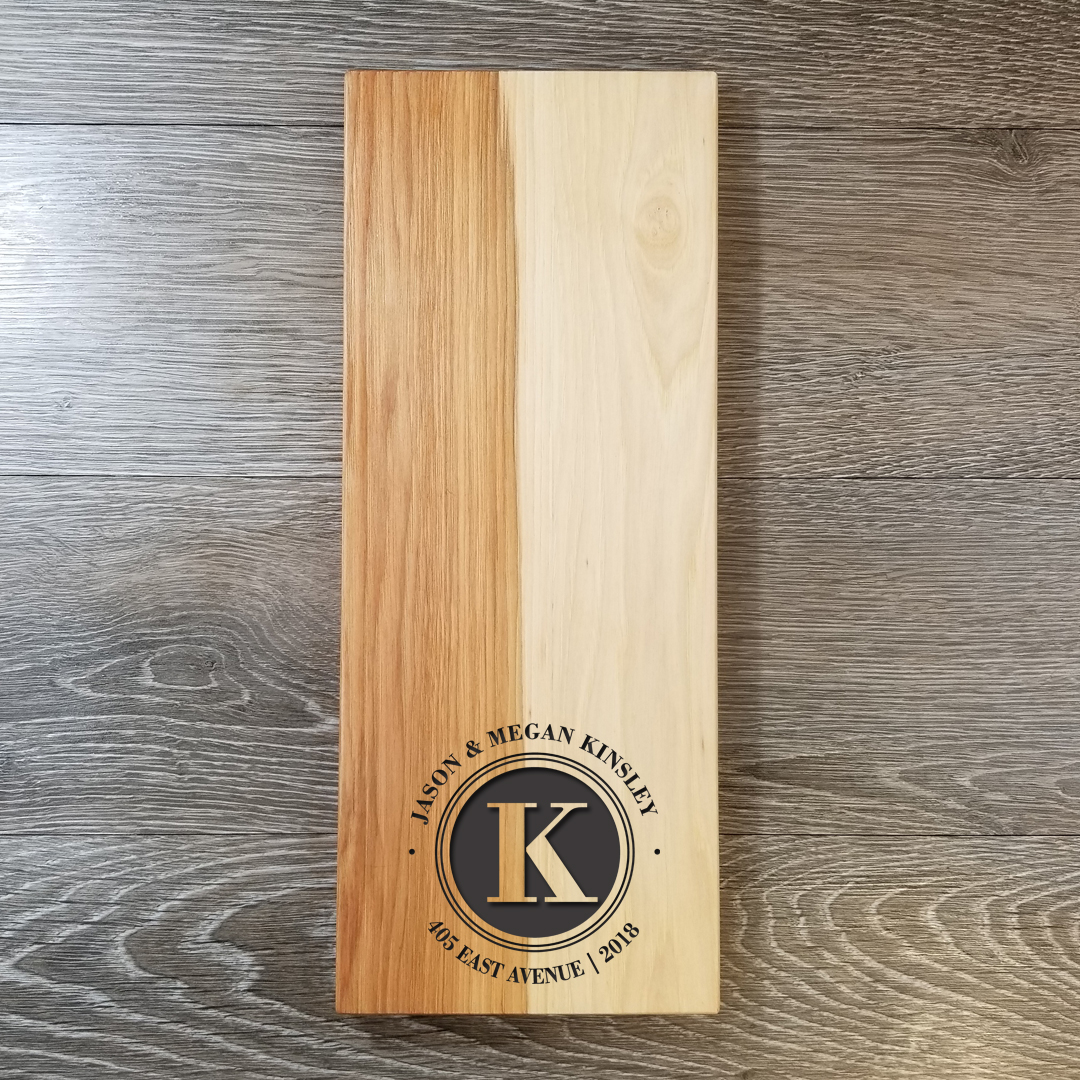 "Hickory WoodCheese Board - 6"" x 15""Once the traditional choice of wood for making baseball bats because of its natural toughness, we're taking Hickory out of the stadium and bringing it to your kitchen. How could we not? Thanks to Hickory's unique makeup, it is tougher than any other commercial wood available!$74.99(**orders placed after an item has sold out will be fulfilled once our new inventory arrives. please contact us if you have any questions.)"