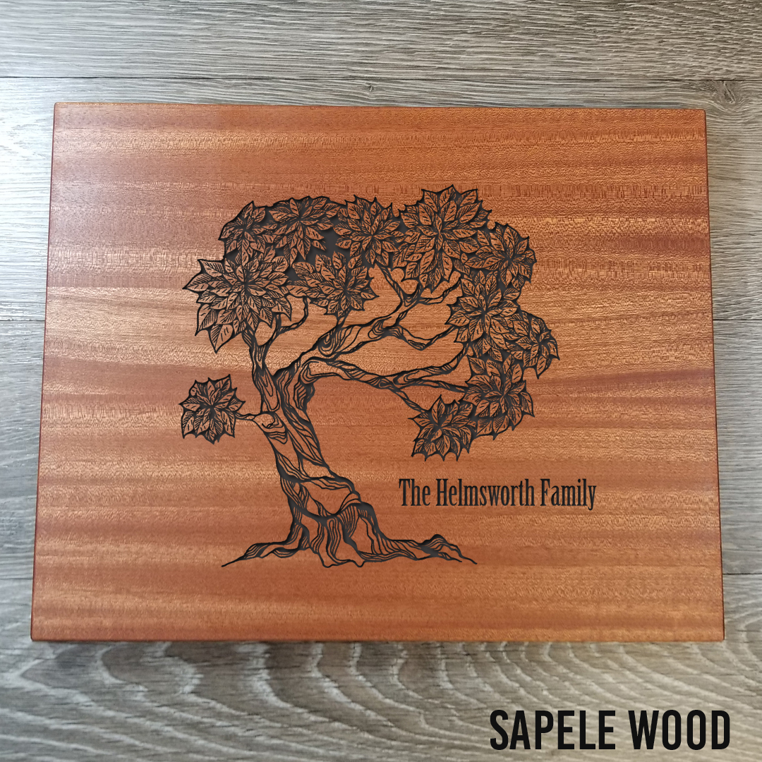 """Sapele Wood cutting Board - $79.9912"""" x 15""""(**orders placed after an item has sold out will be fulfilled once our new inventory arrives. please contact us if you have any questions.)"""
