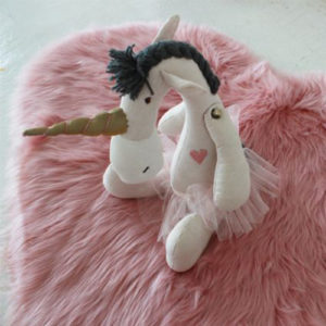 Unicorn toy - A special soft toy, like this unicorn from Cotton candyflos