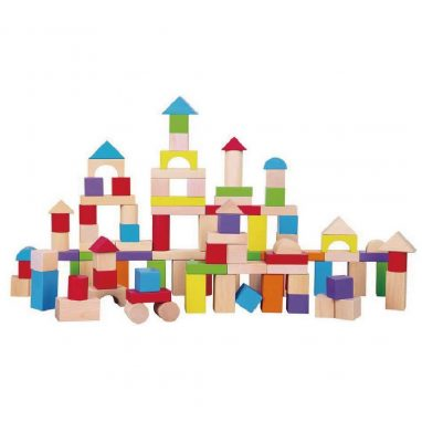 Wooden blocks - Wooden blocks provide hours of fun, not to mention teaching your kids how to use their imagination. This set is also from Polly Potters
