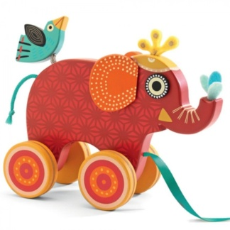 Pull along toy - For smaller kids, this pull along wooden elephant is just too cute! Find this on Clever Little Monkey's online store