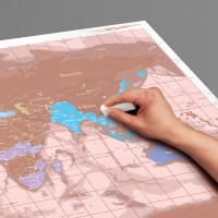 "Interactive map - I think this is a genius gift, and couldn't decide if I should list is here or under ""something to do together"". I guess it depends on the mom. This is a map of the world on which you can write. So on it she can tick of the places that she has been, and mark the places she would like to visit. She can make notes, even use the map as a sort of bucket-list cum goal-list. I saw this one online at Big Blue"