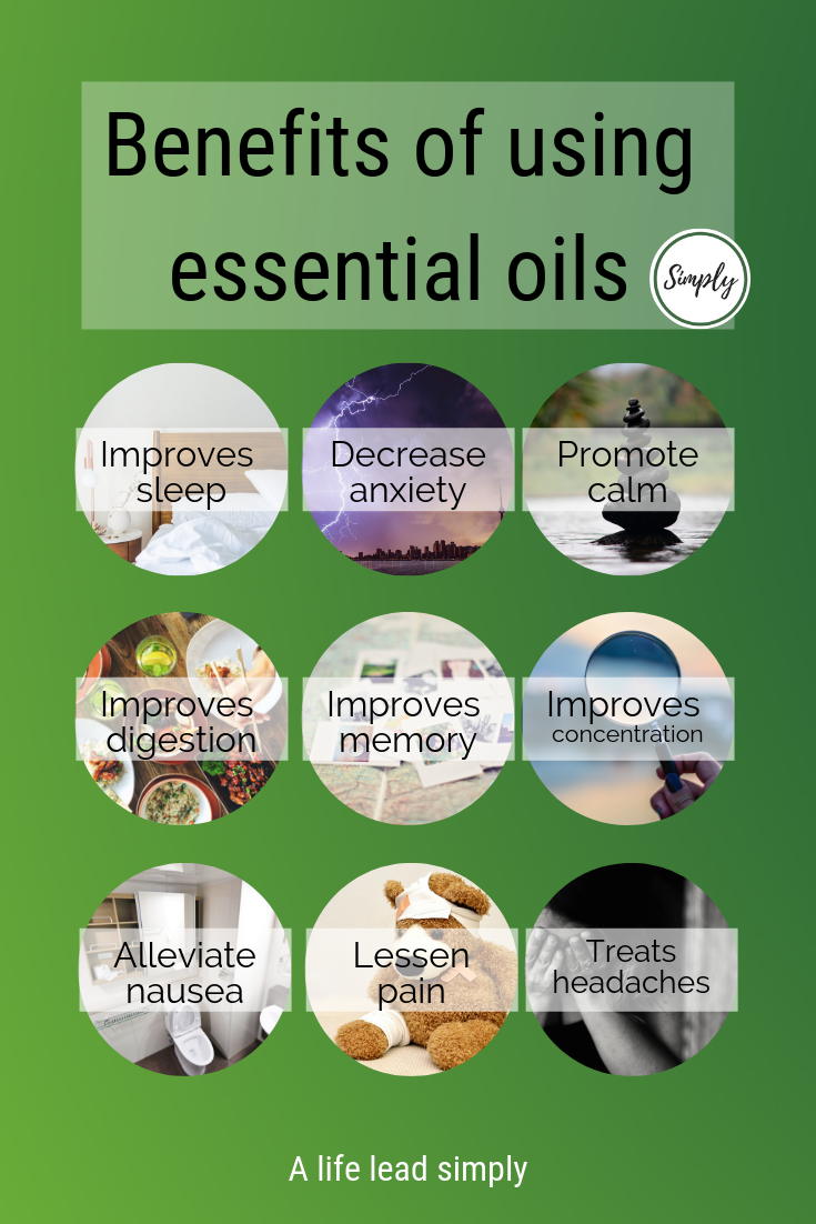 Benefits of essential oils, A life lead simply