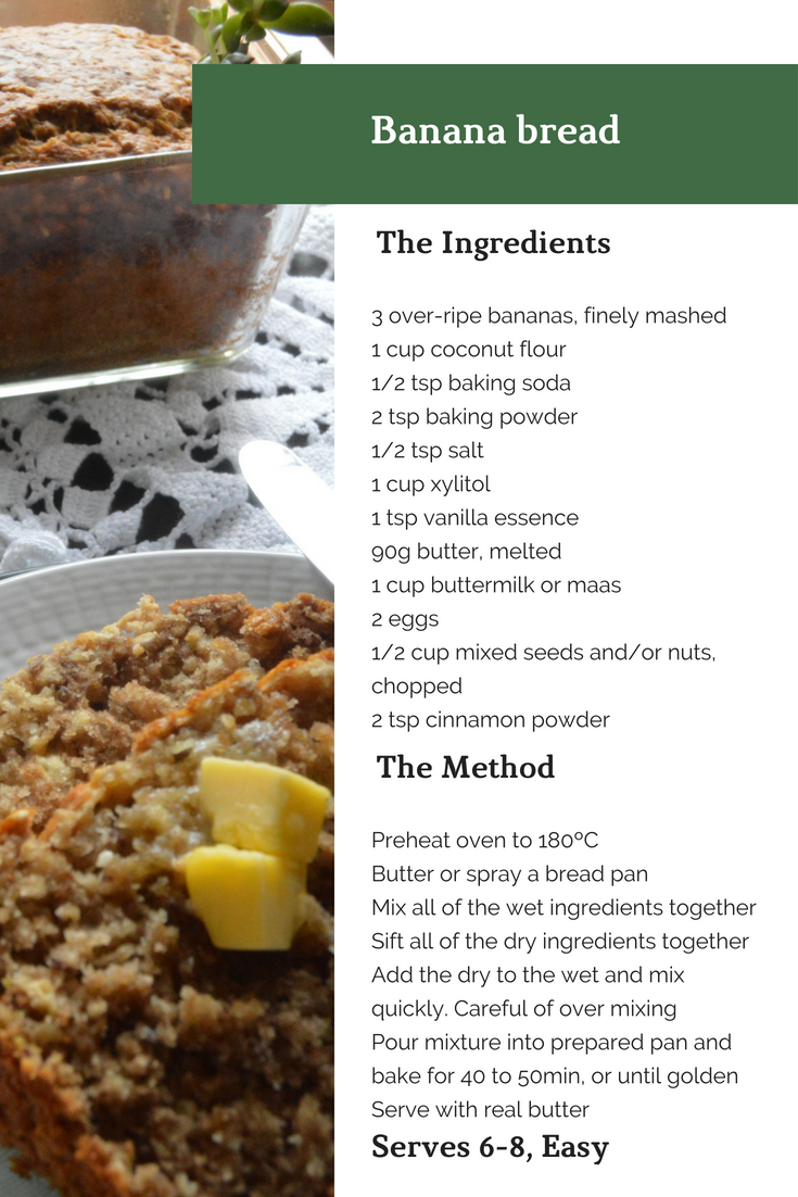 Recipes, Banana bread, GAPS Paleo LCHF, A life lead simply, www.alifeleadsimply.com, recipe format.png