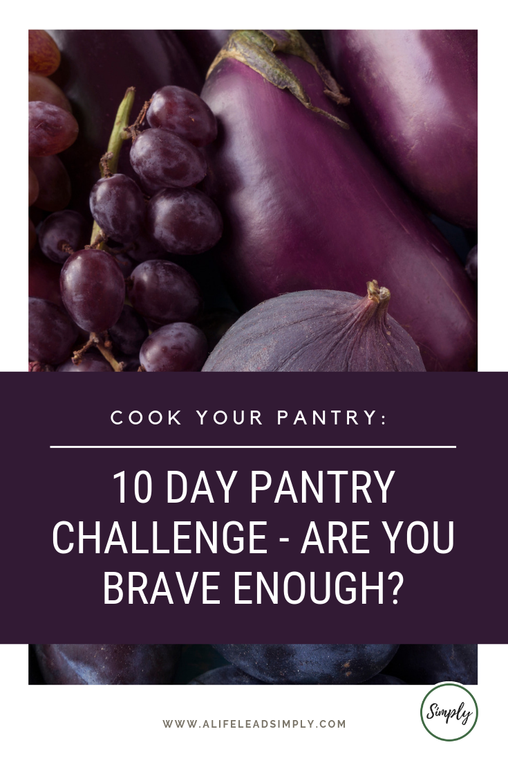 Cook your pantry: 10 day pantry challenge, alifeleadsimply.com