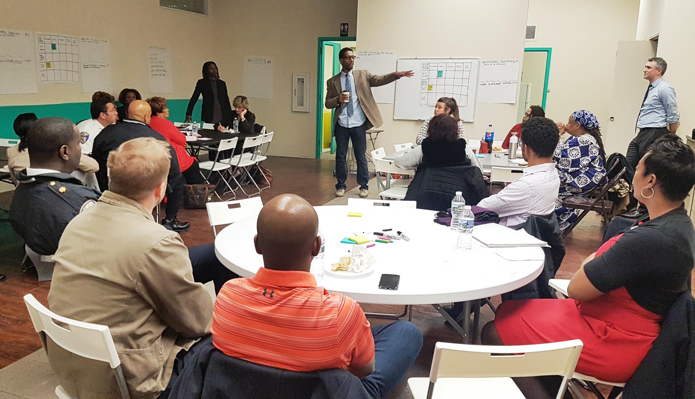 Ray Kelly doing workshop introductions at No Boundaries Coalition