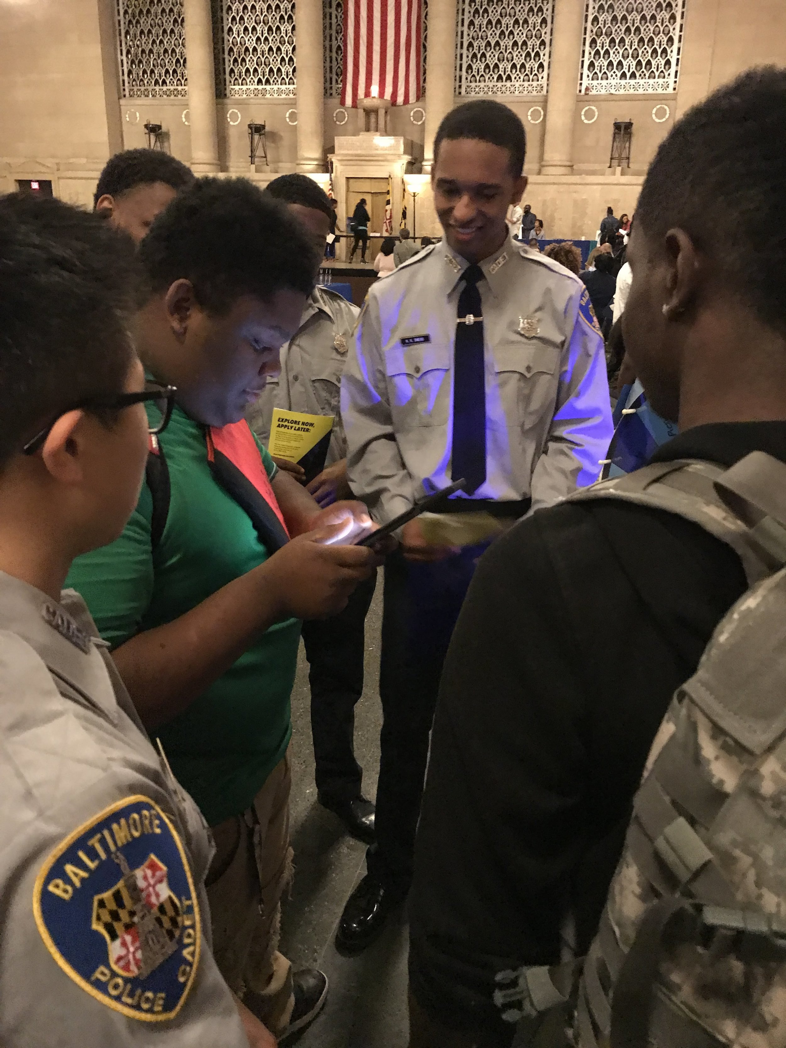 Cadets working hard to recruit Baltimore youth to the BPD Cadet Apprenticeship