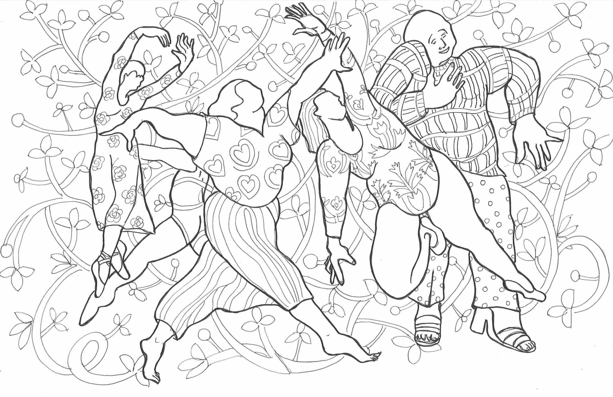 Daily Dance: Adult Coloring Book