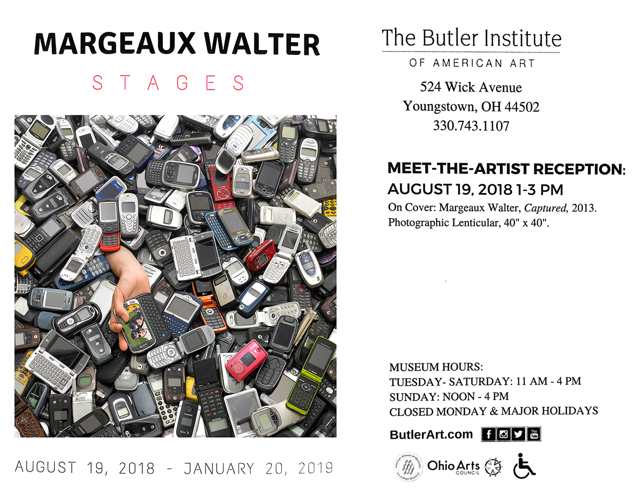 I have a solo exhibition of videos and lenticulars opening at the Butler Institute of American Art in Youngstown, OH on August 19th!  https://butlerart.com/margeaux-walter-stages/
