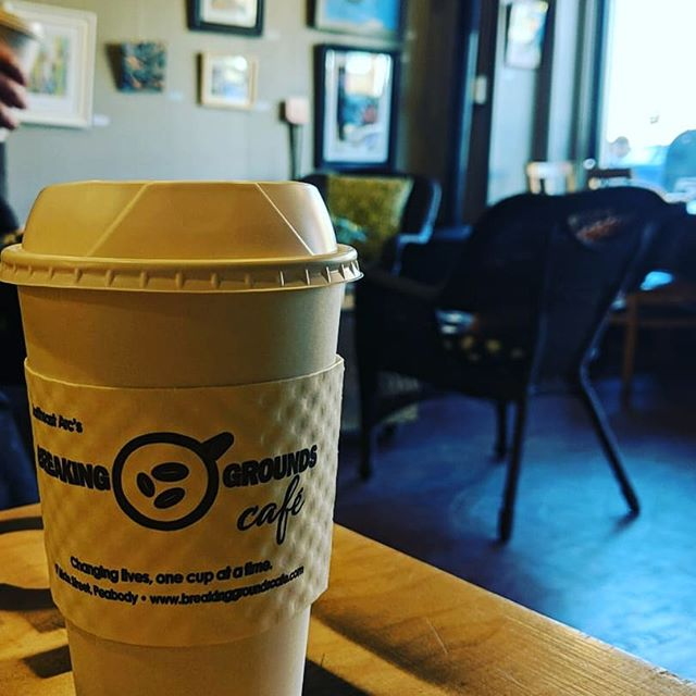 Local fuel from @breaking_grounds_peabody for a long day of #pretzel deliveries  #coffee