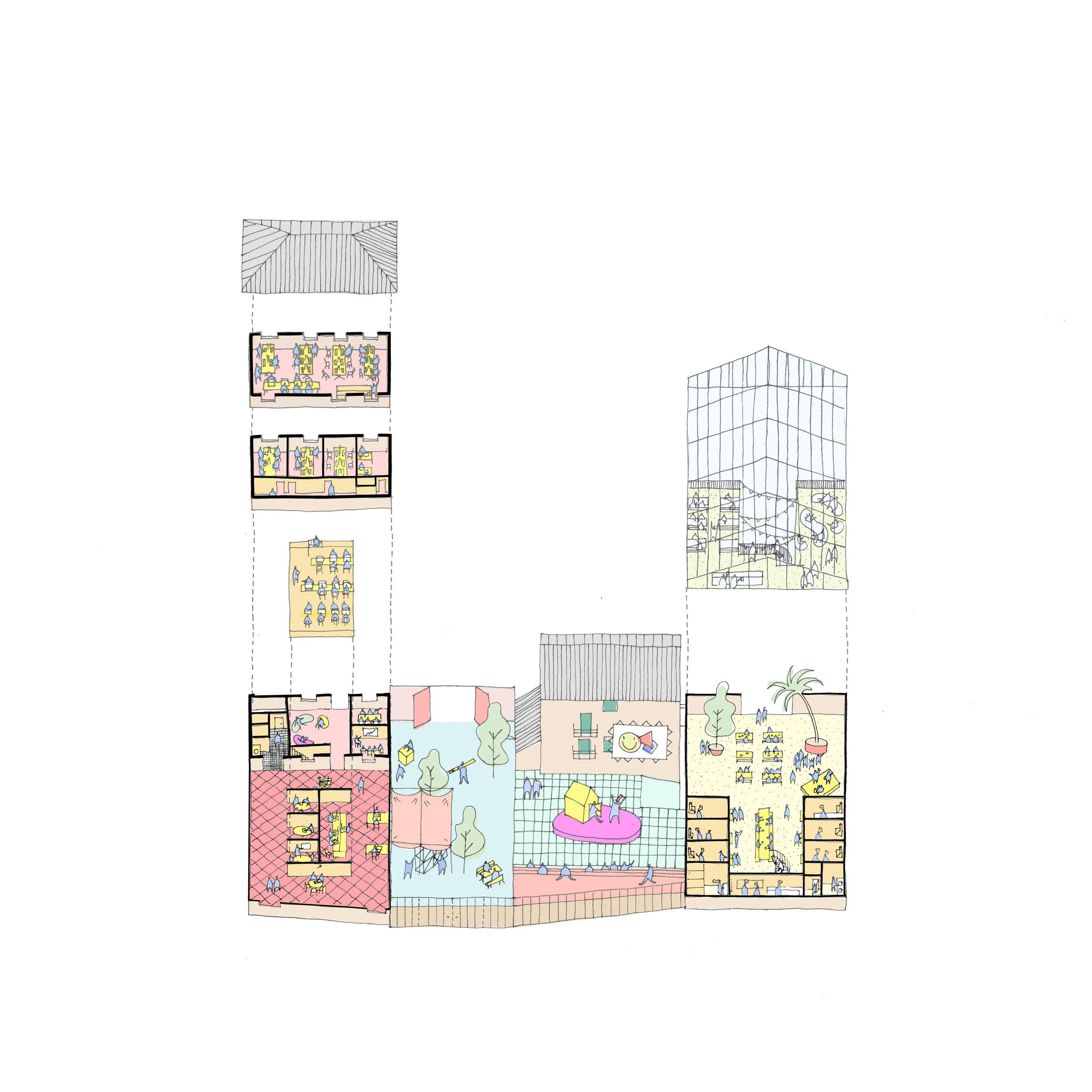 Coachworks Ashford, concept diagram - Exploded drawing
