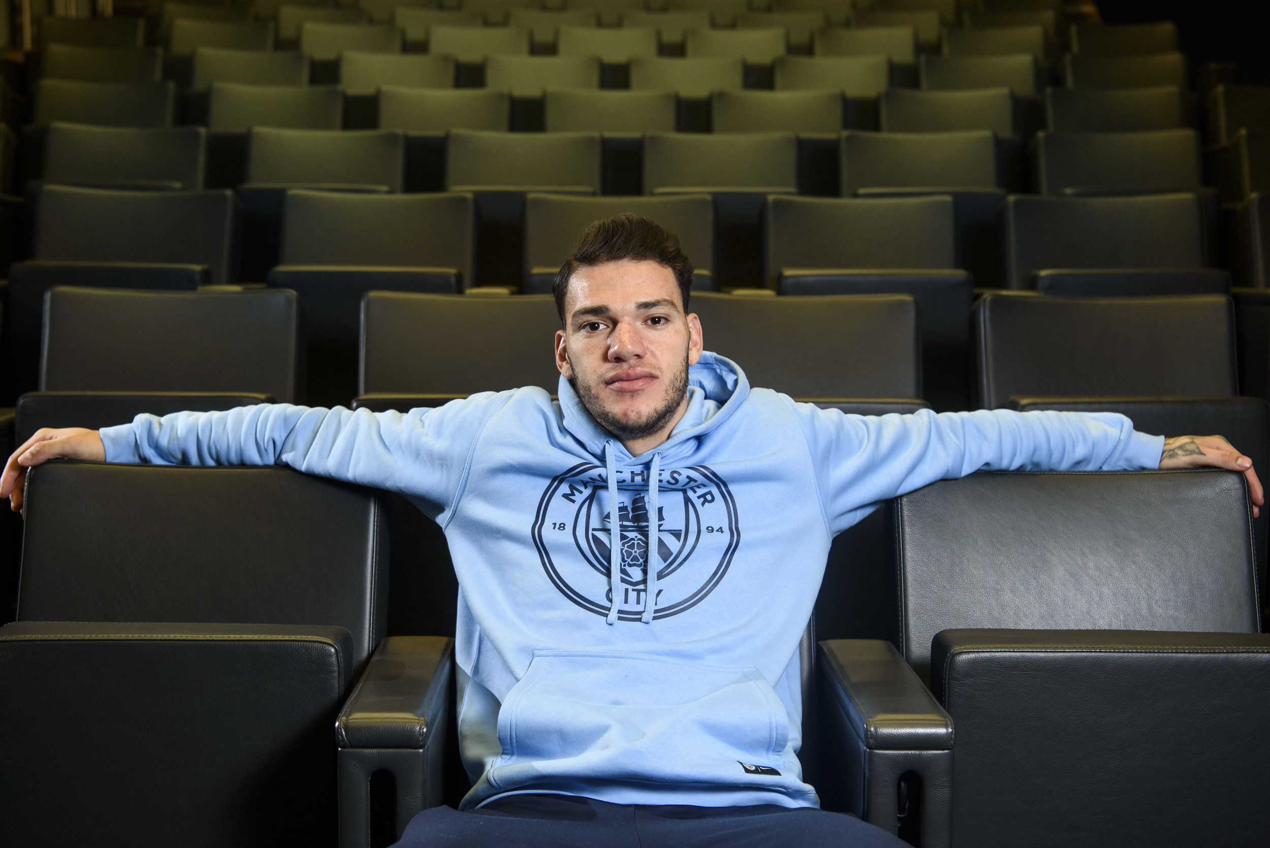 Manchester City Goalkeeper Ederson for the Daily Telegraph