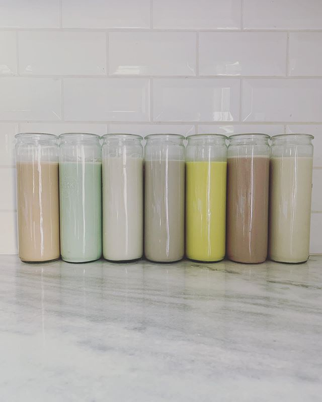 recipe testing postpartum tonics and channeling pastel 🌈 vibes.