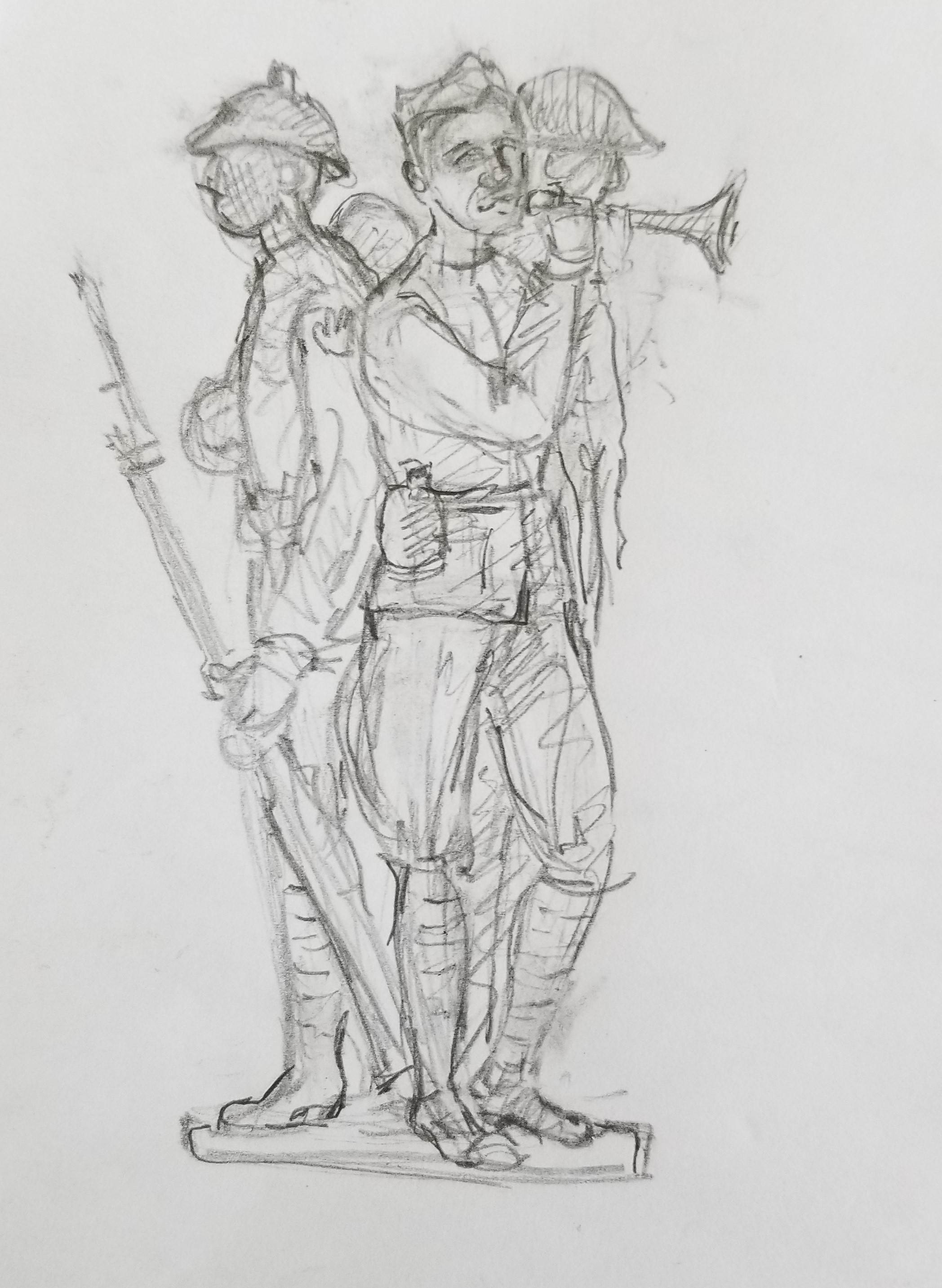 371st Memorial Monument Concept Drawing