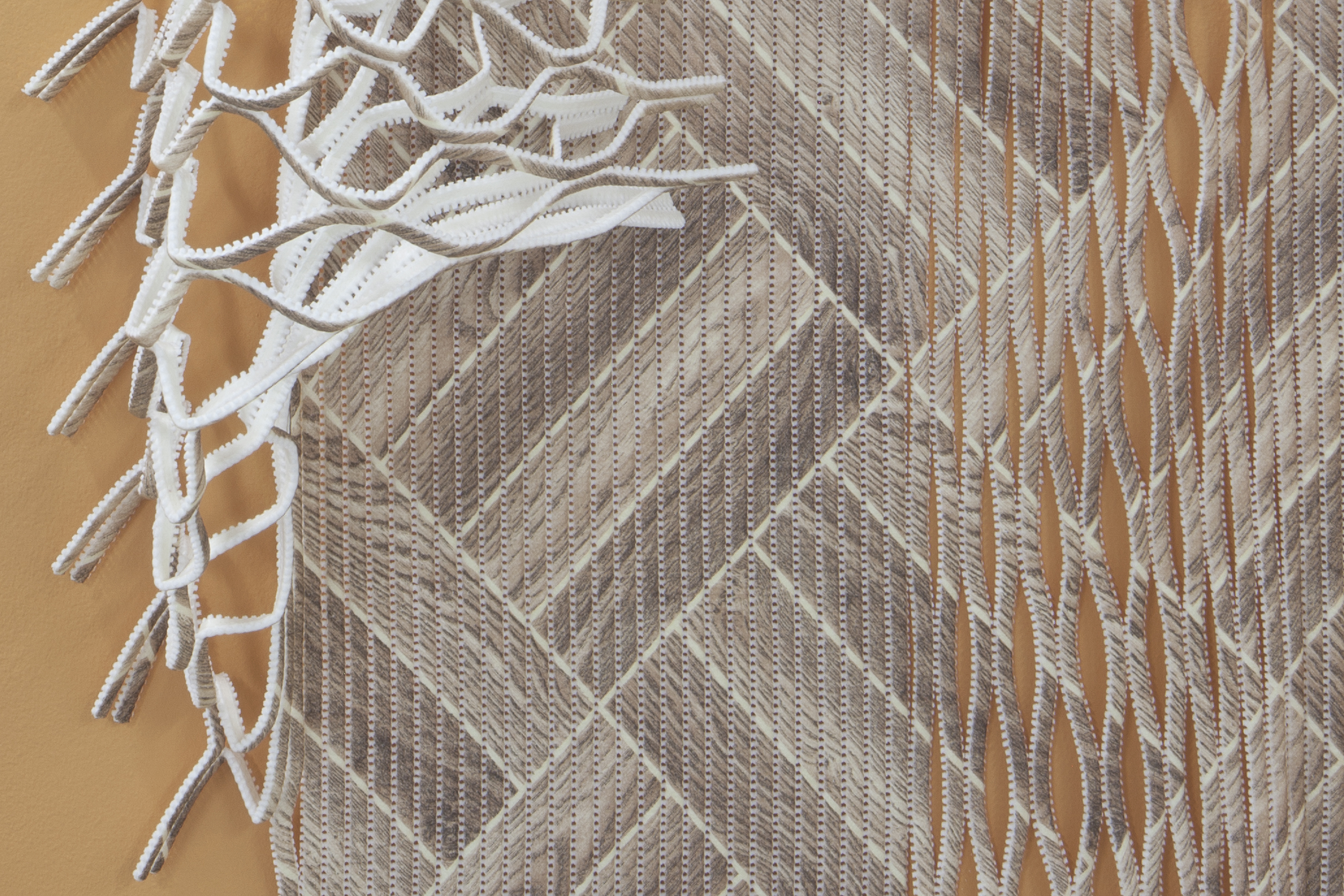 Textured vinyl cloth © Lucy Renton