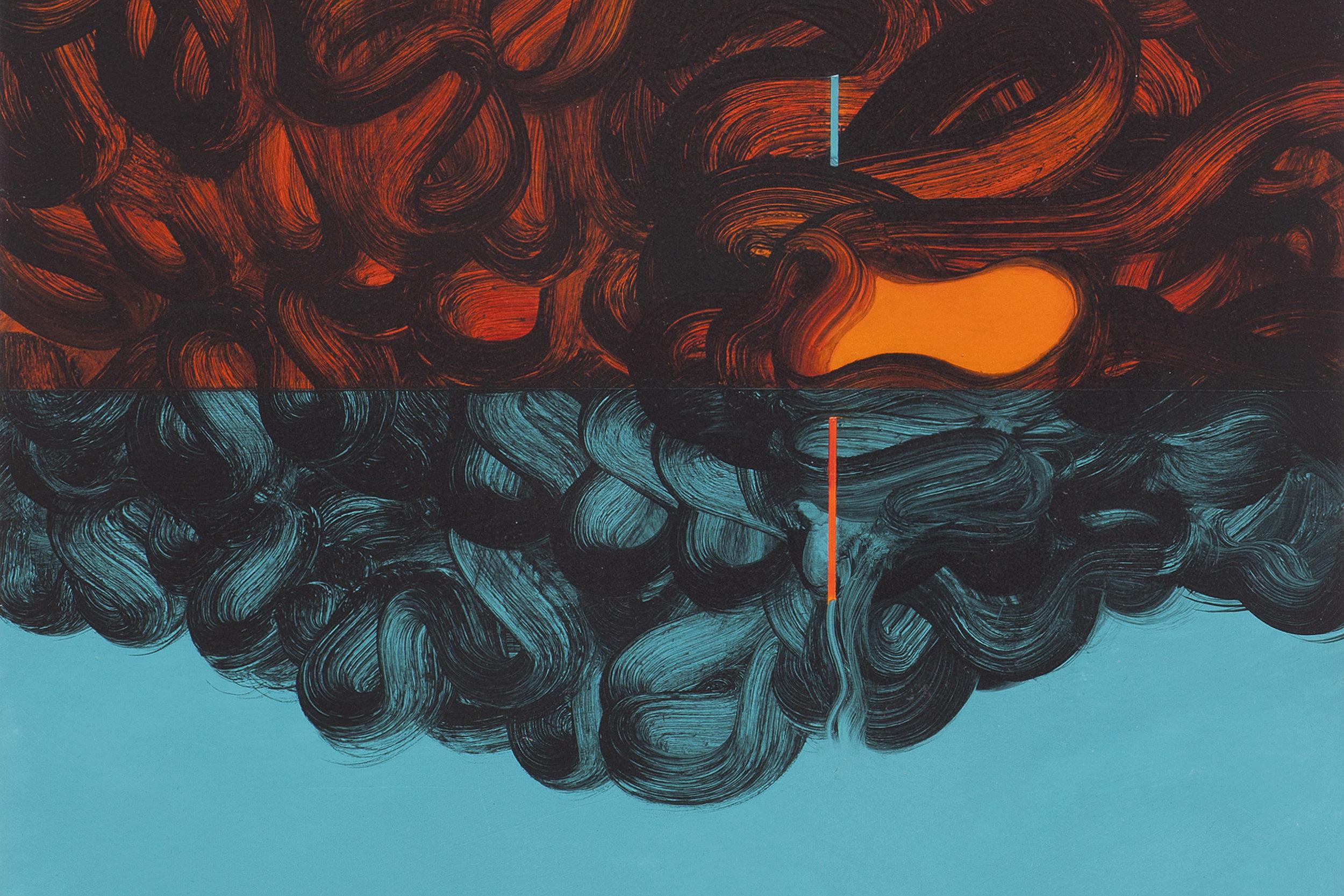 Reverse Transcription, Oil on aluminium, © Suzi Morris