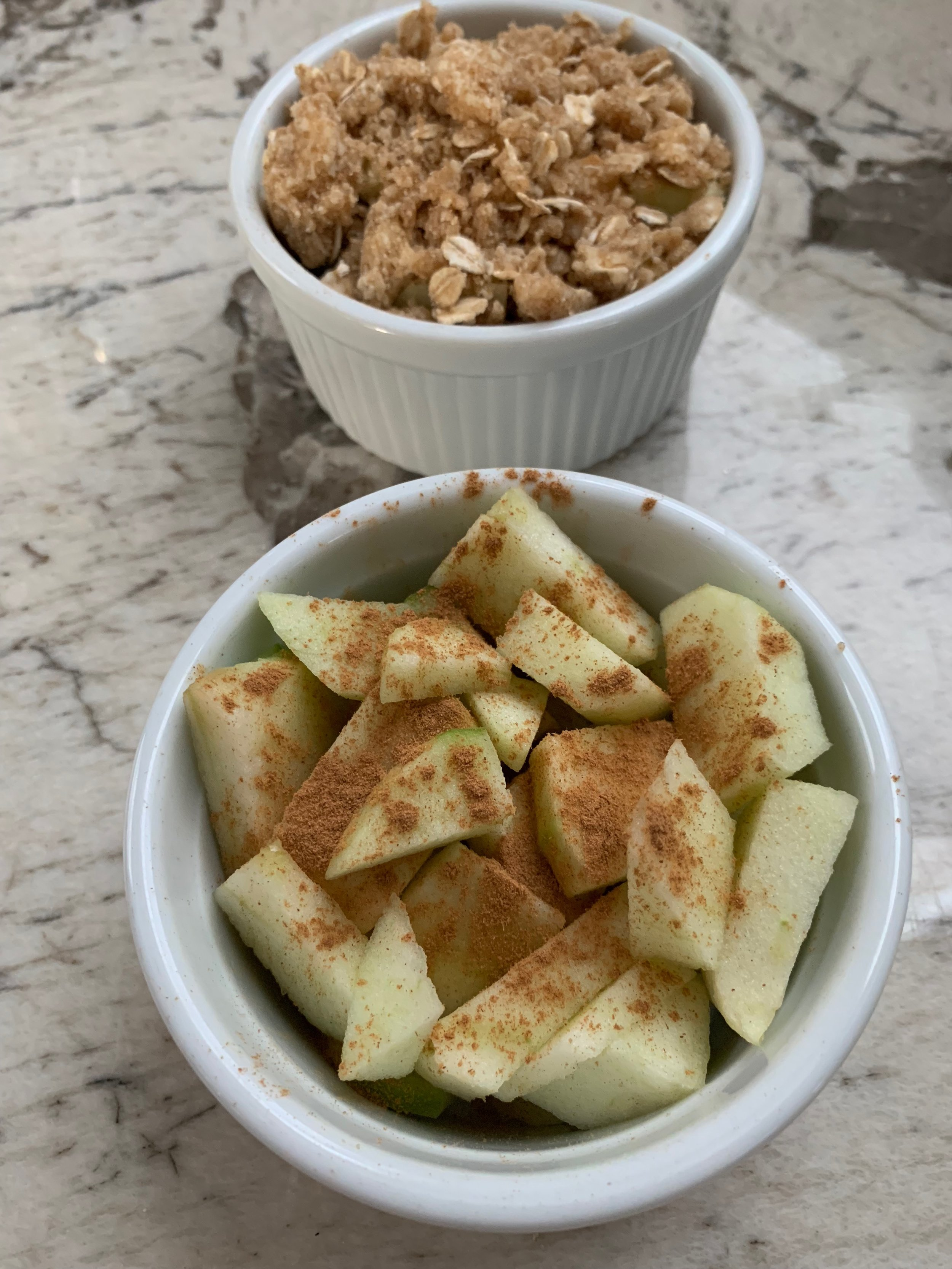 If you have extra ingredients, I love to make individual ramekin crisps. Perfect for the morning after to satisfy your sweet tooth!