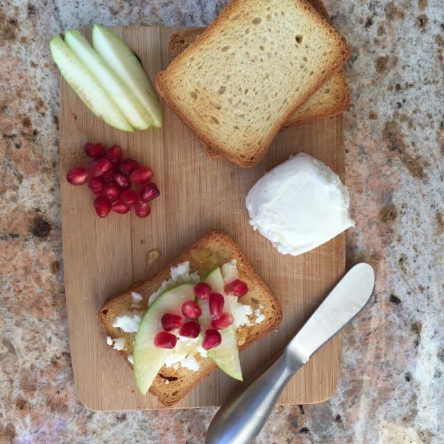 Goat Cheese, Apple & Pomegranate Aril Toast 3.jpeg