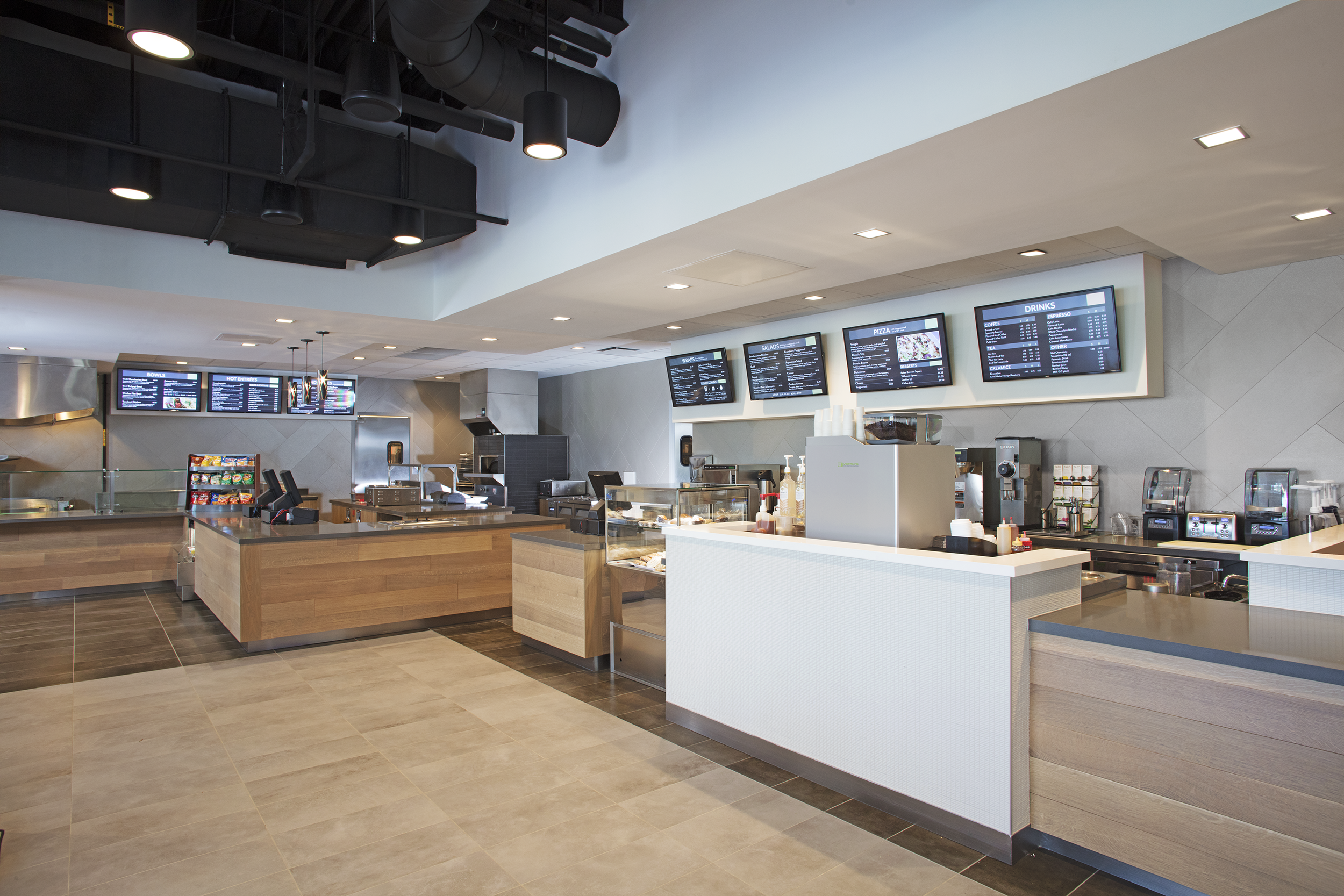 Enjoy Breakfast, Lunch, Coffee Bar and Afternoon Snacks