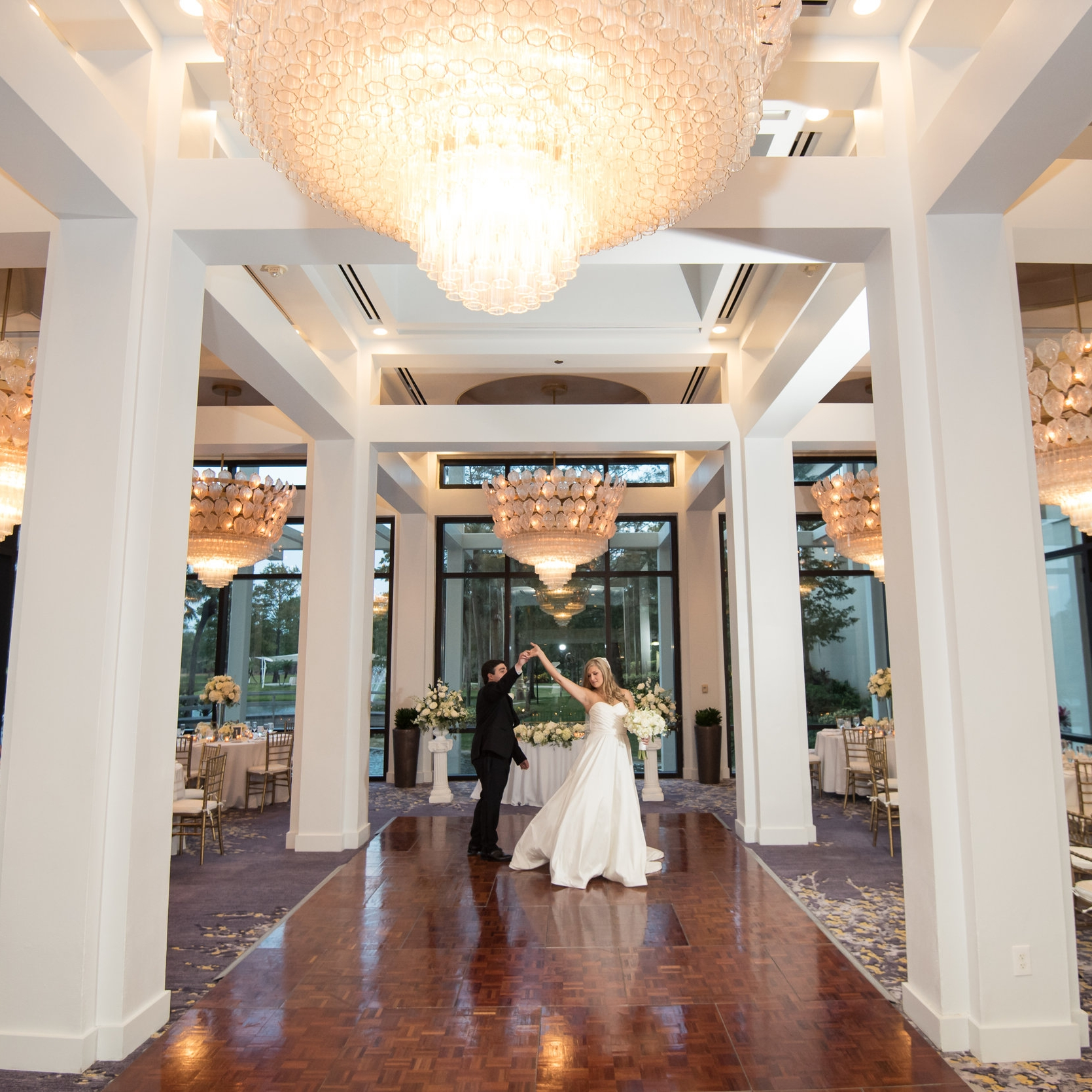 La Coquina   Floor to ceiling windows make this space a truly unique and beautiful option for either receptions or ceremonies.  Learn More >>