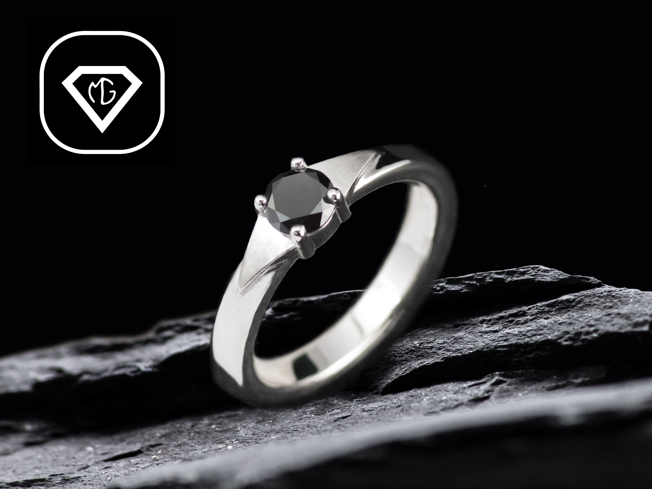 bague-de-fiancaille-diamant-noir