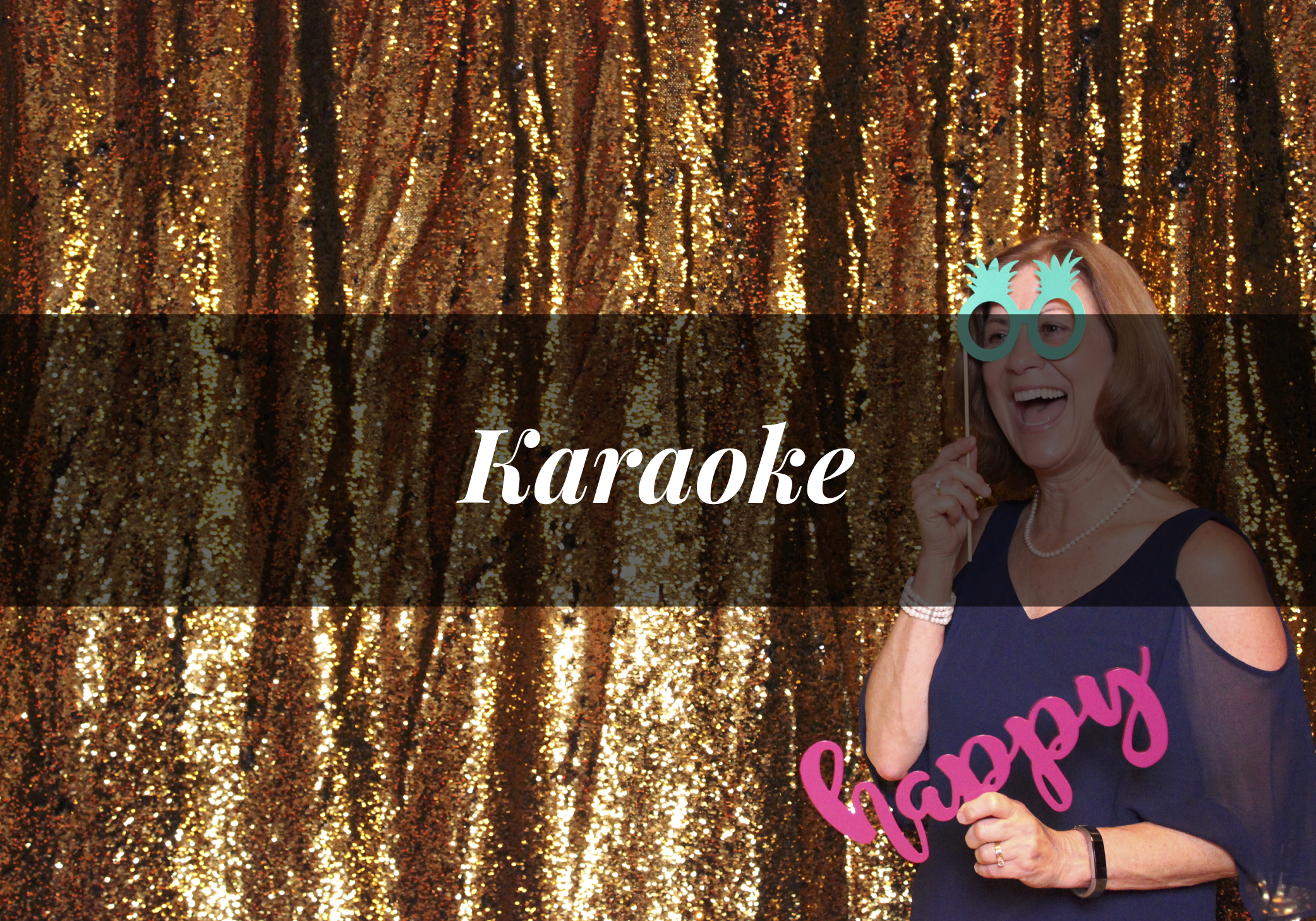 Karaoke Packages include a professional disc jockey and emcee, multiple microphones for singing with friends, and all necessary sound equipment.