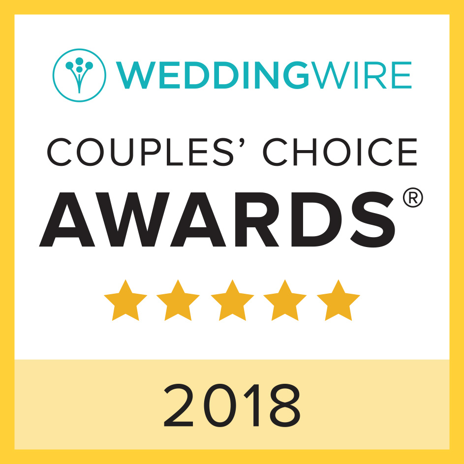 WeddingWire Couple's Choice Award-winner of 2018