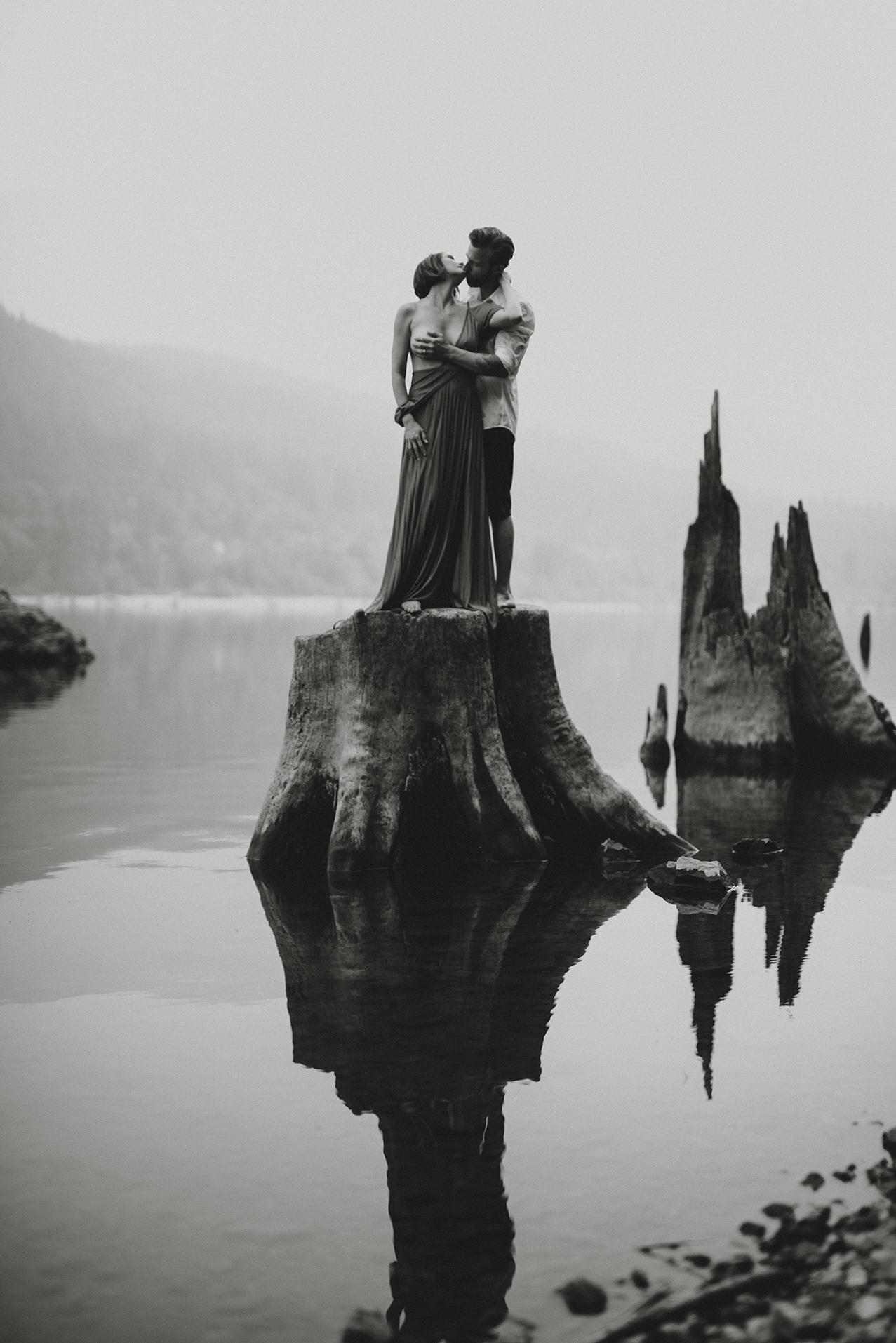 Love at Rattlesnake Lake, Washington. -