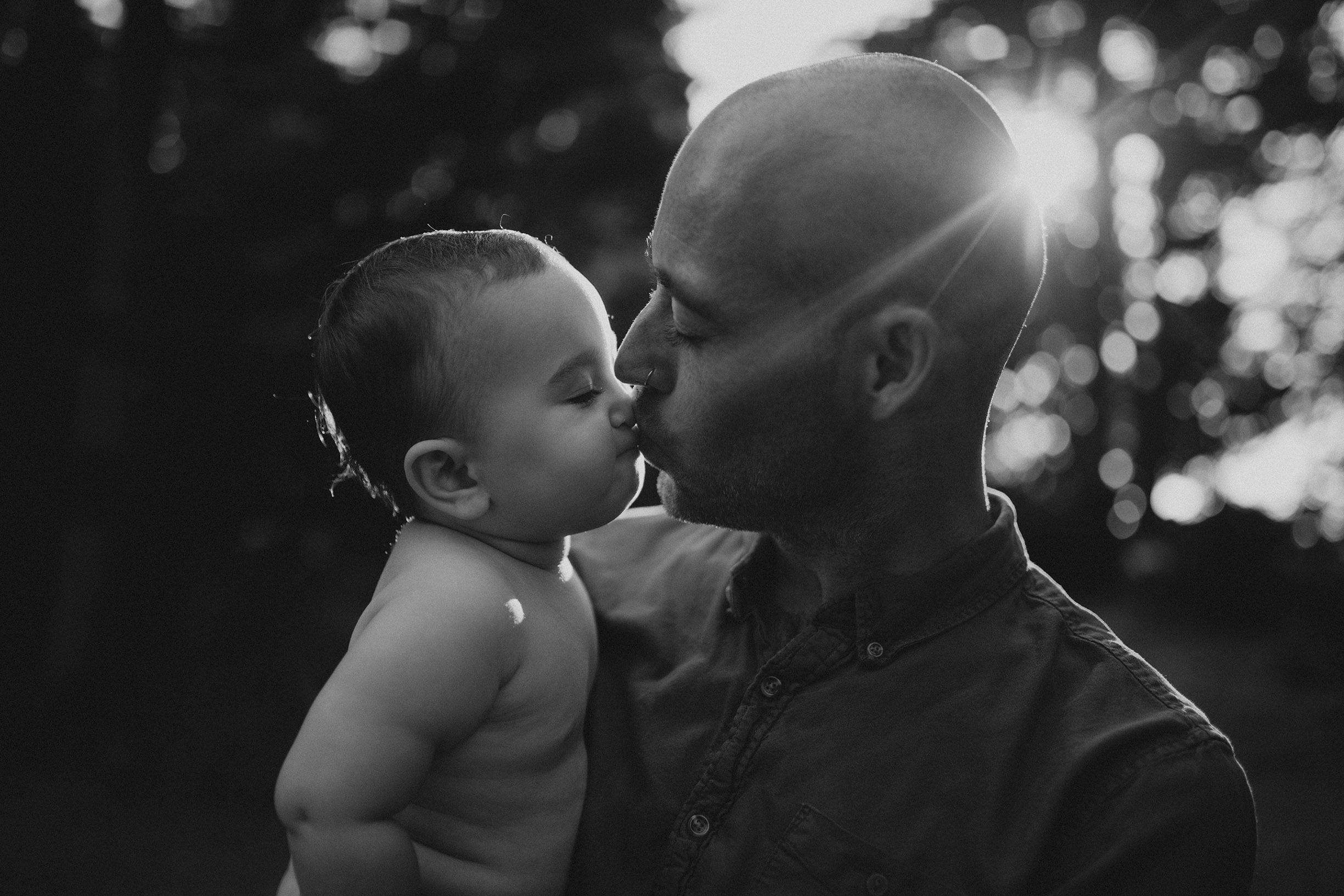 baby and dad photo