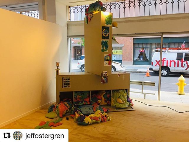 "First Stop artists @jeffostergren and Nina Yuen are in an Excellent group show ""Perverse Furniture"" at ArtSpace opening May 19! It's curated by @audehelene and @sfritche I had the pleasure of seeing some of it in the middle of install. It's going to be an an awesome show! For more insight into these two smart and talented artists, listen to The First Stop on your preferred listening app. 📸 the work of Jeff Ostergren  #Repost @jeffostergren with @get_repost ・・・ Installation and artsy snaps of ""Color is fundamentally involved in the making of culture from the human body"" on view as part of the very cool exhibition Perverse Furniture @artspacenh opening this Sunday 1-4. Thanks to @audehelene and @sfritche and @letsthelittlethings for installation assistance #scienceforabetterlifev2"