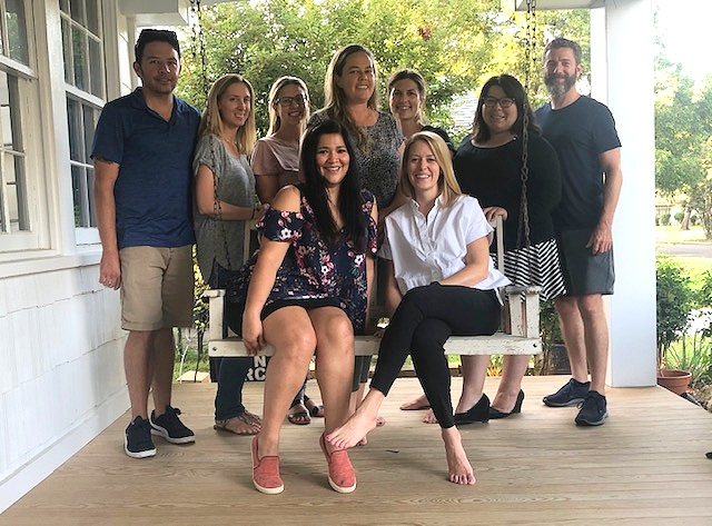 From left to right: Back row: Travis Hudson, Ally Newman, Hayley Nanasi, Amanda Reiter, Melissa Weis Loeckle, Marysol Villanueva, Michael Merrick Seated: Andy Ramirez, Kaitlin Snow Not Pictured: Sonya Hebert