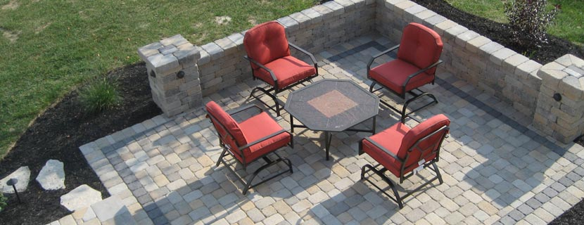 Brick Patios & Retaining Walls - One sentence description