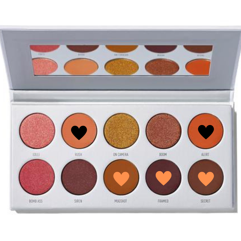 """Add depth into your crease with the shade """"Secret� a matte roasted chestnut shade. - This shade takes your look to the next level because it's the darkest shade in the palette. Use a small crease brush and use windshield wiper motions until you get the desired darkness you want. And finally take the first shade """"Rush� again and blend everything together."""