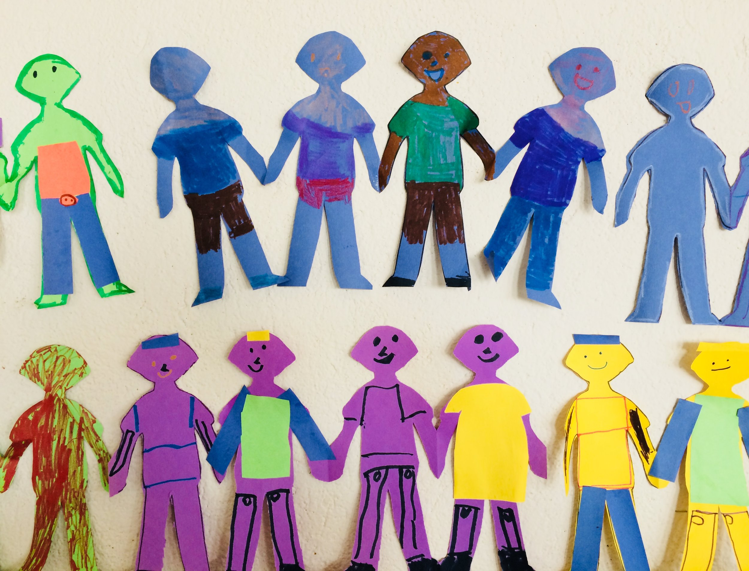 Paper dolls displaying the people of the world
