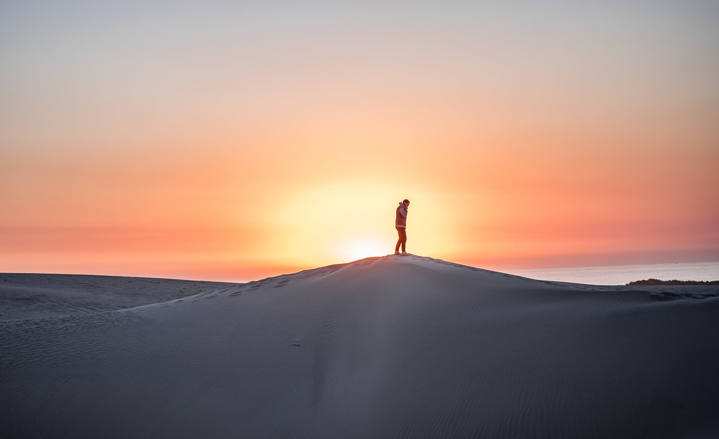 Man in a desert / contemplation