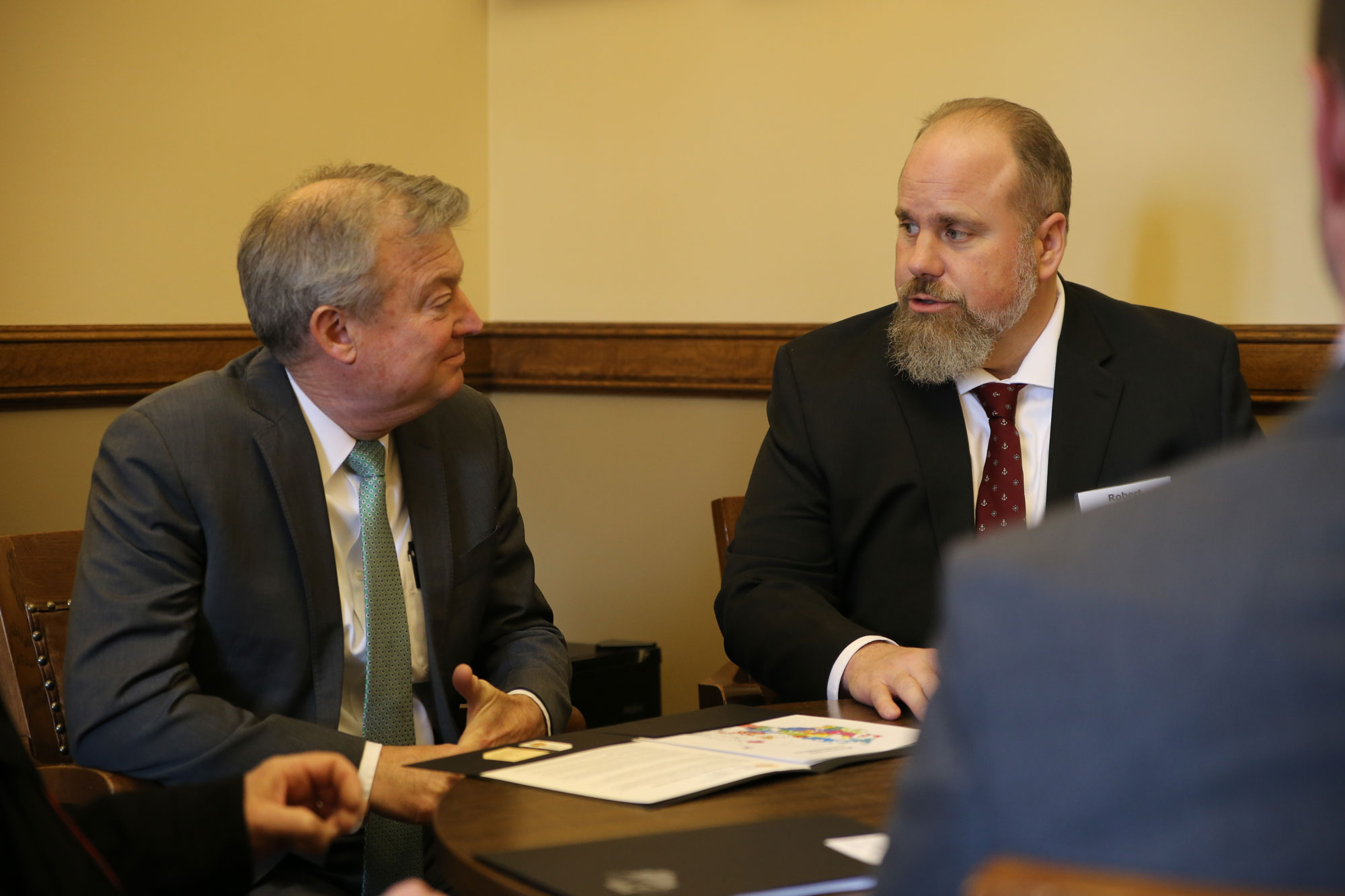 Robert Cornell and Representative Kitchens discuss efforts to keep our provision in the budget