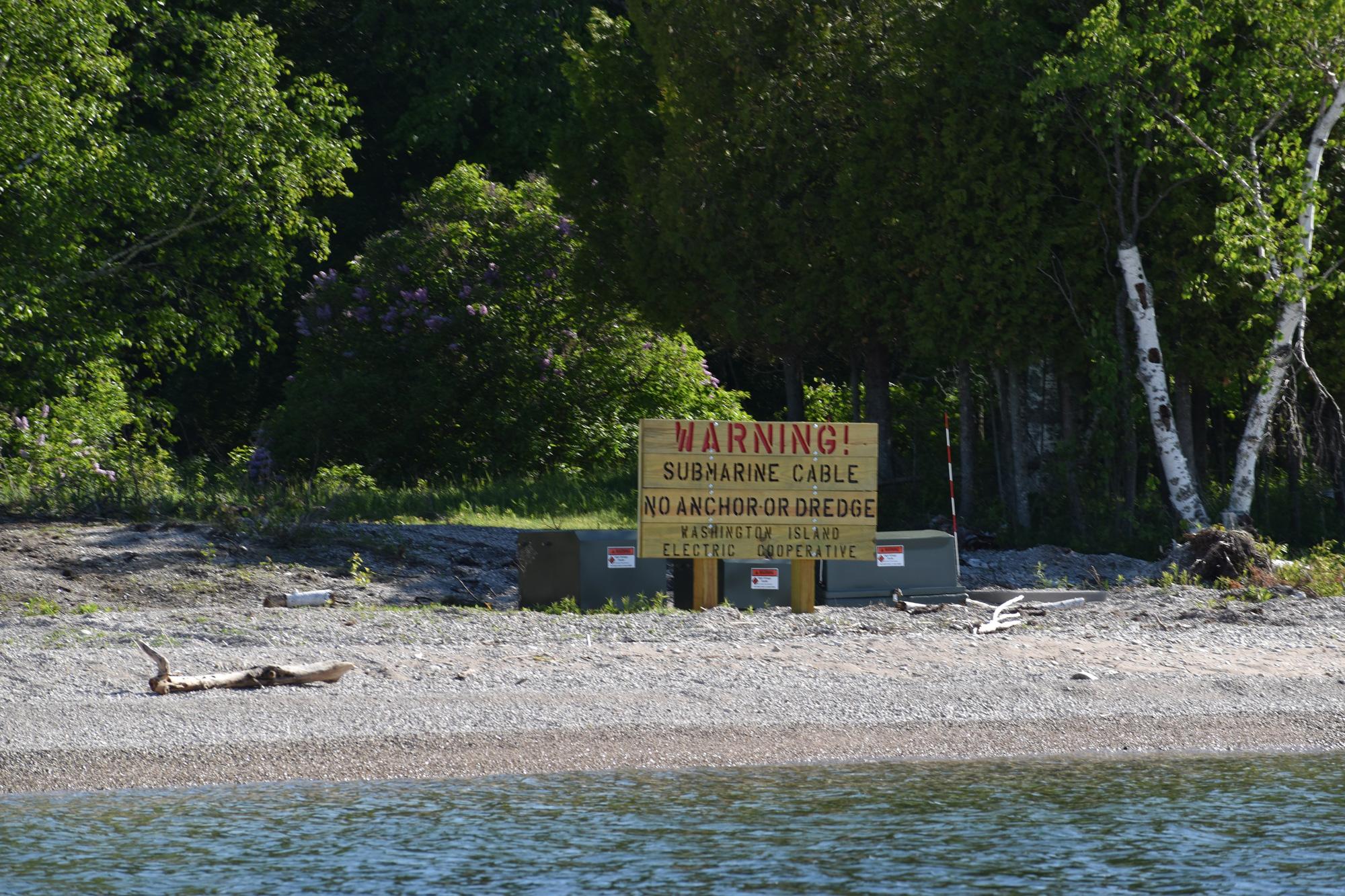 Warning Sign North Plum Island Landing