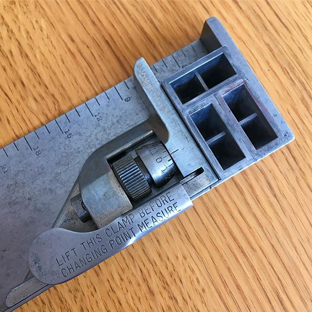 Having spent ages trying to track one of these down and after some deep cleaning and tinkering we now have a perfectly set (and square) Rouse Micrometer Stick. #draysonandstock #letterpress #tool #toolthursday #faversham #kent #printing #old