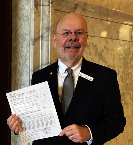 Filling to run for District 16 Idaho Senate.