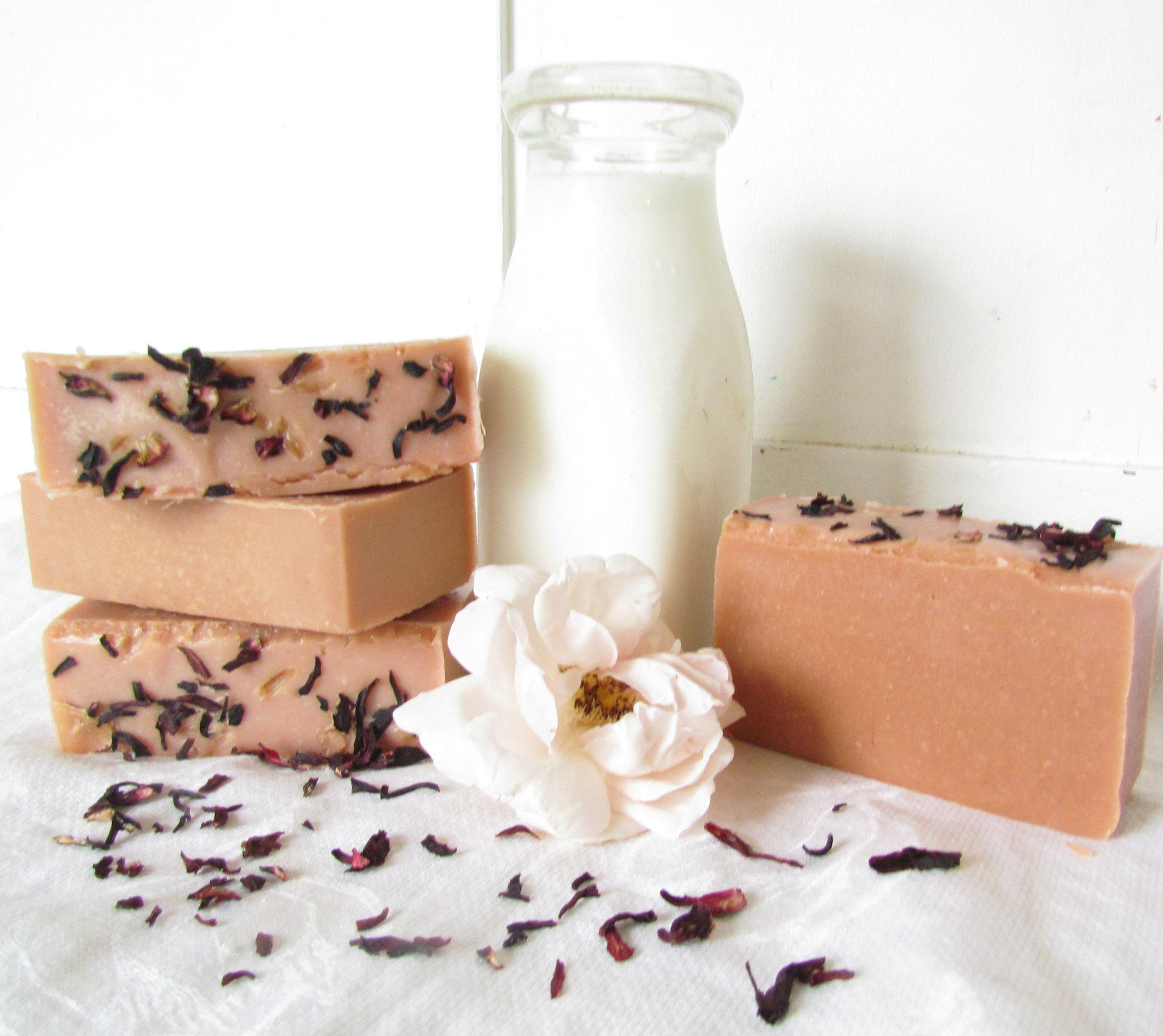 Soothing Rose Hibiscus Sheep Milk Soap.jpg