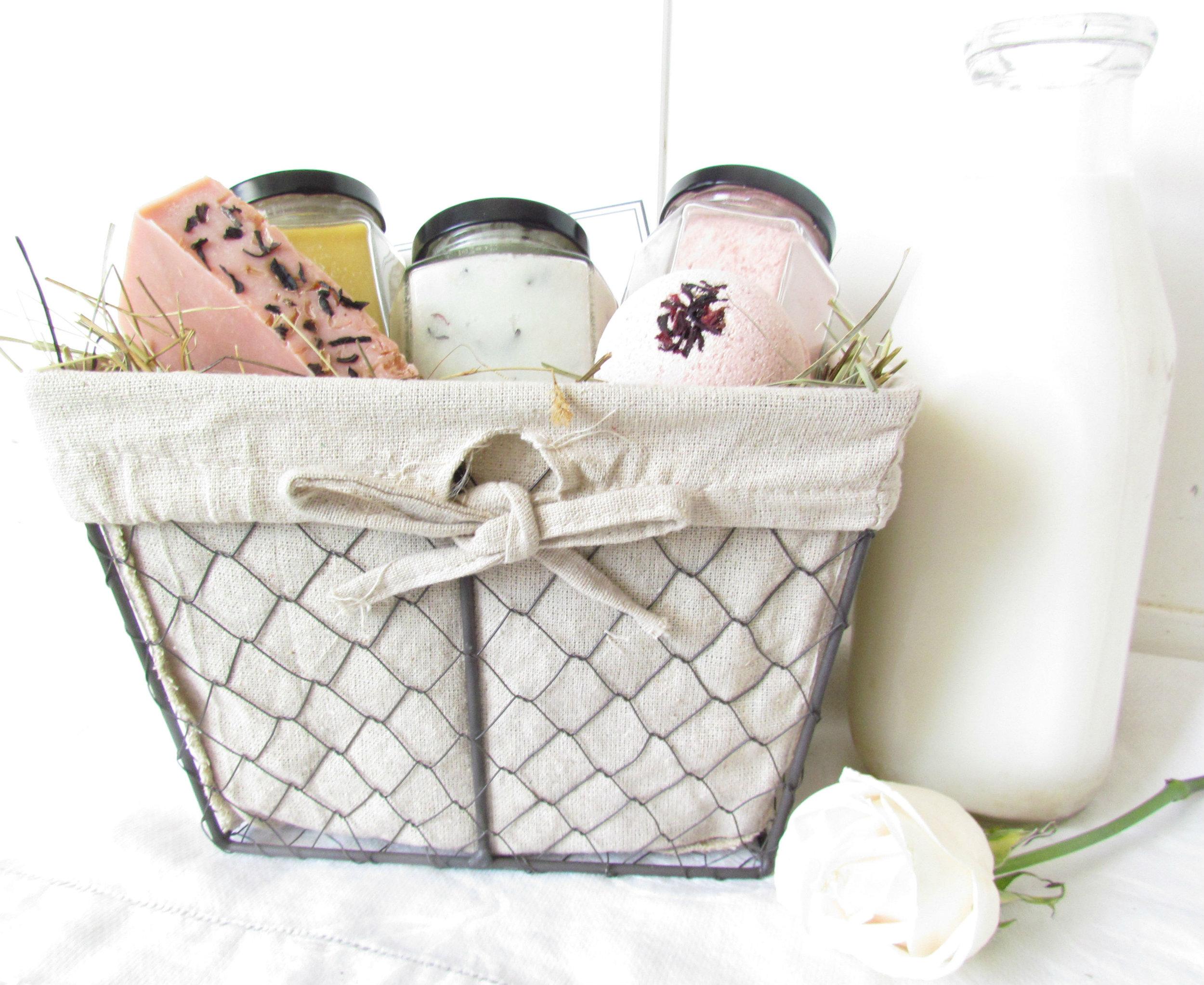 Soothing Rose Hibiscus Sheep Milk Basket.jpg