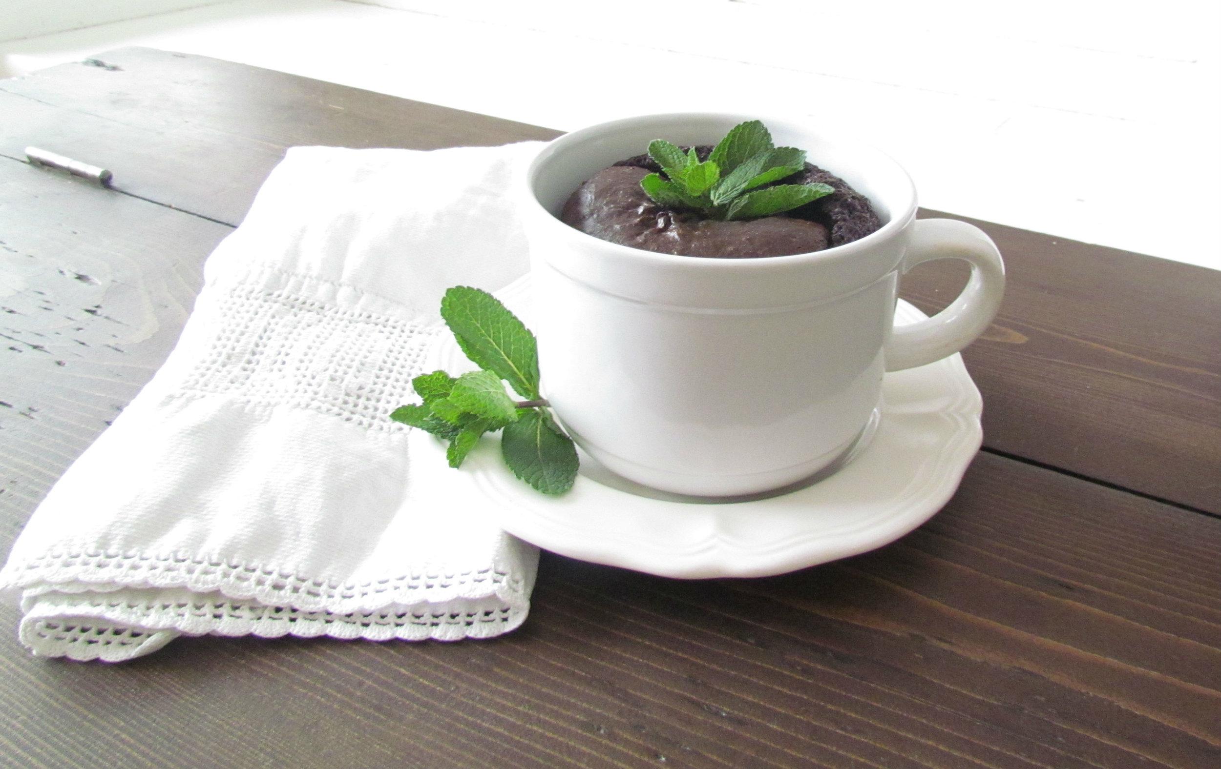 Decadent gluten-free spearmint chocolate mug cake.jpg
