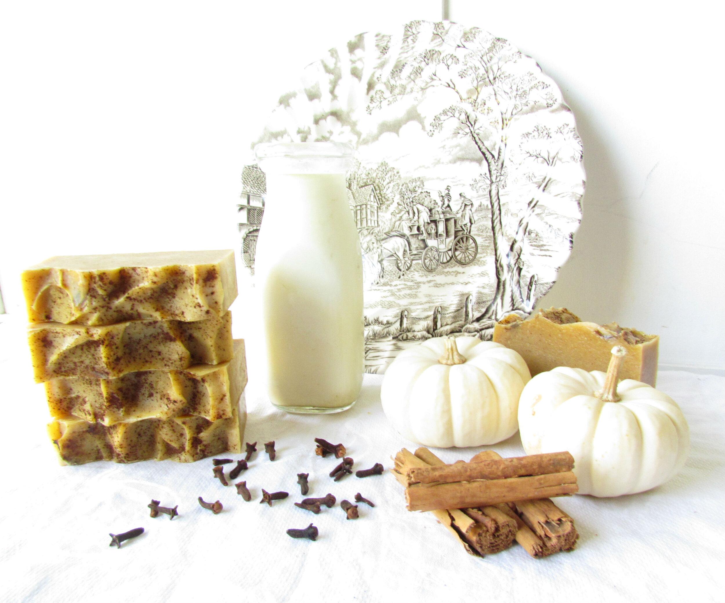 Comforting Autumn spice sheep milk soap