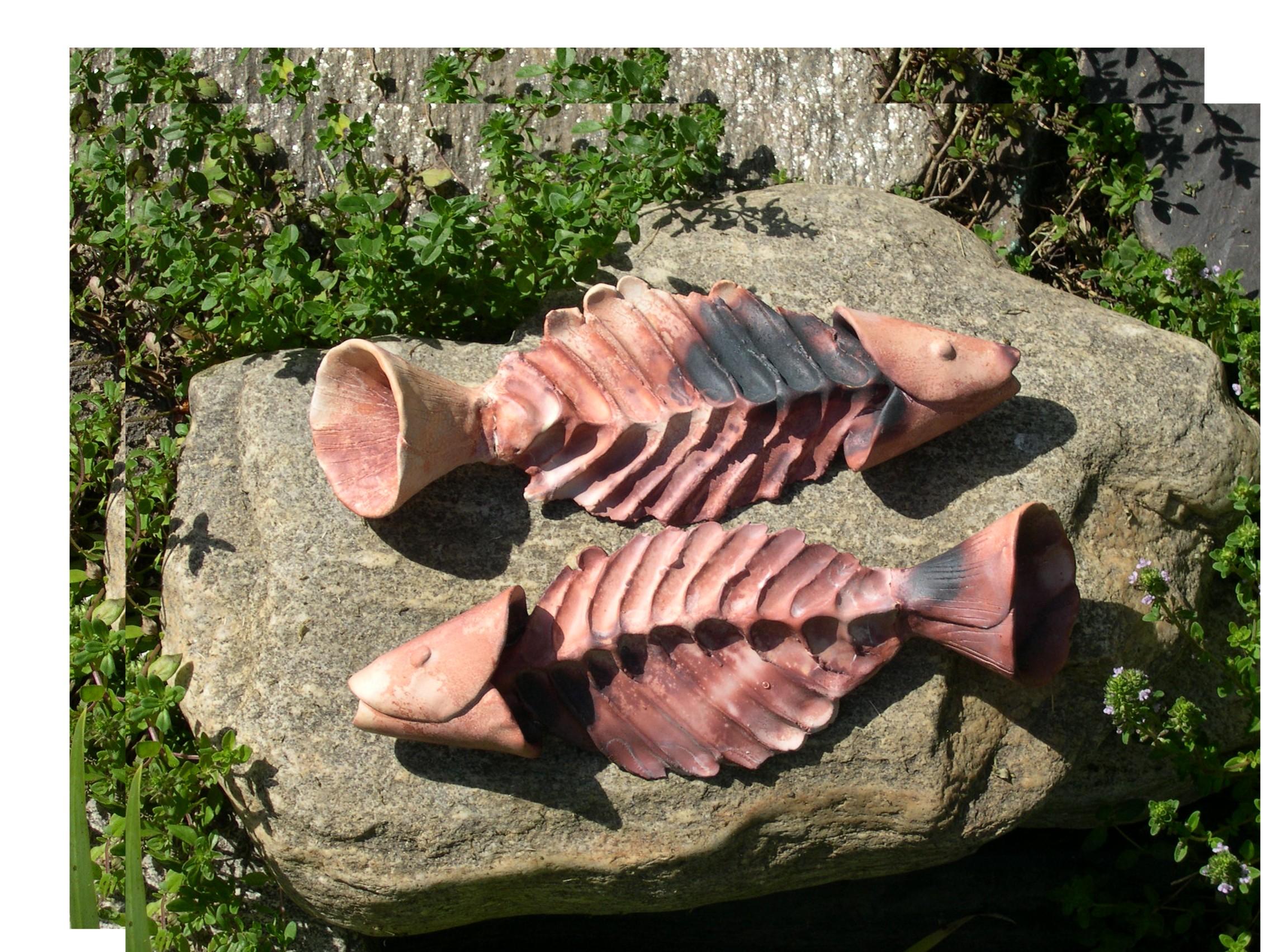 Saggar fired fish 2012.JPG