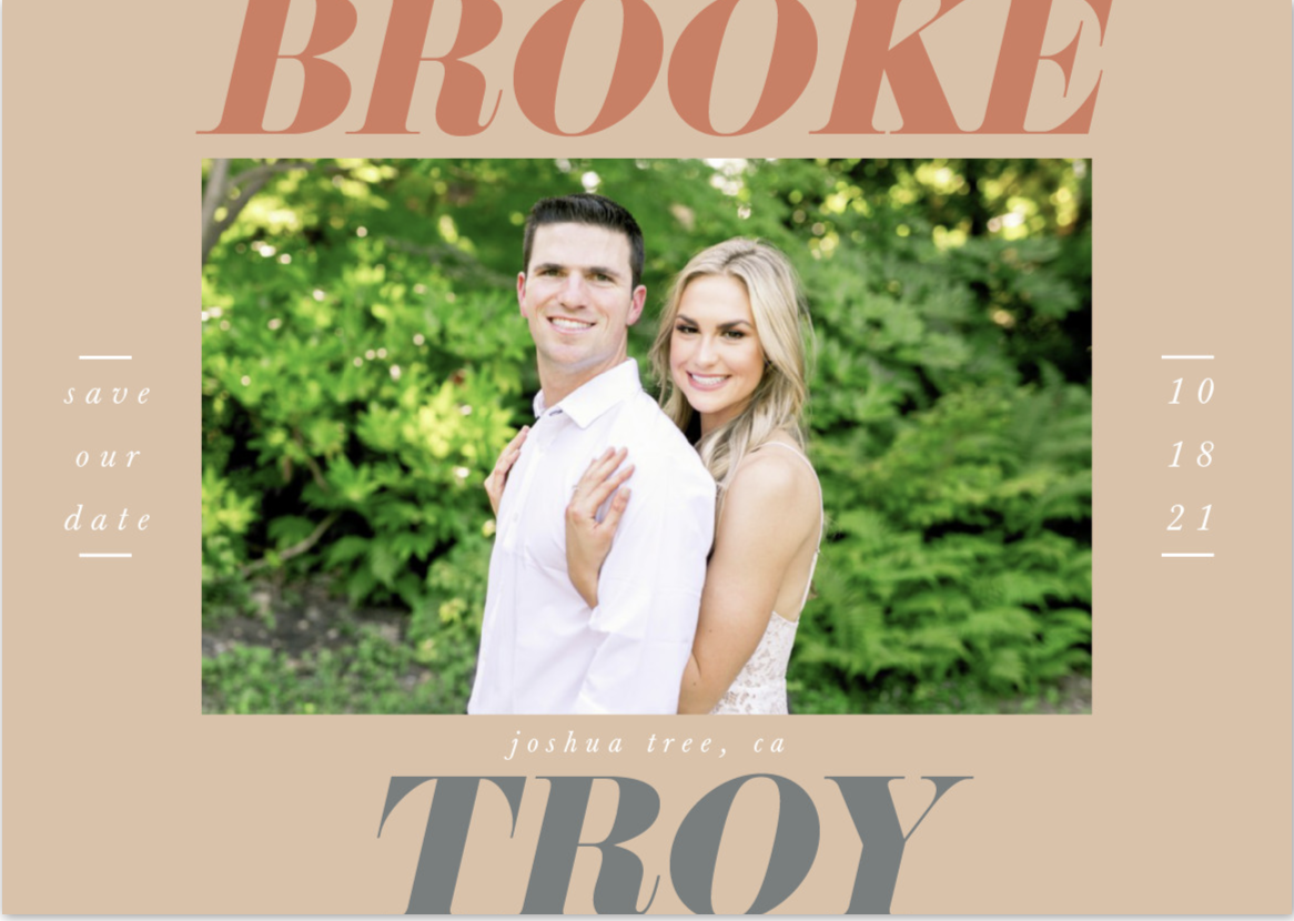 Photo Credit: Minted Save the Date Card Photo Abbie Mae Photography