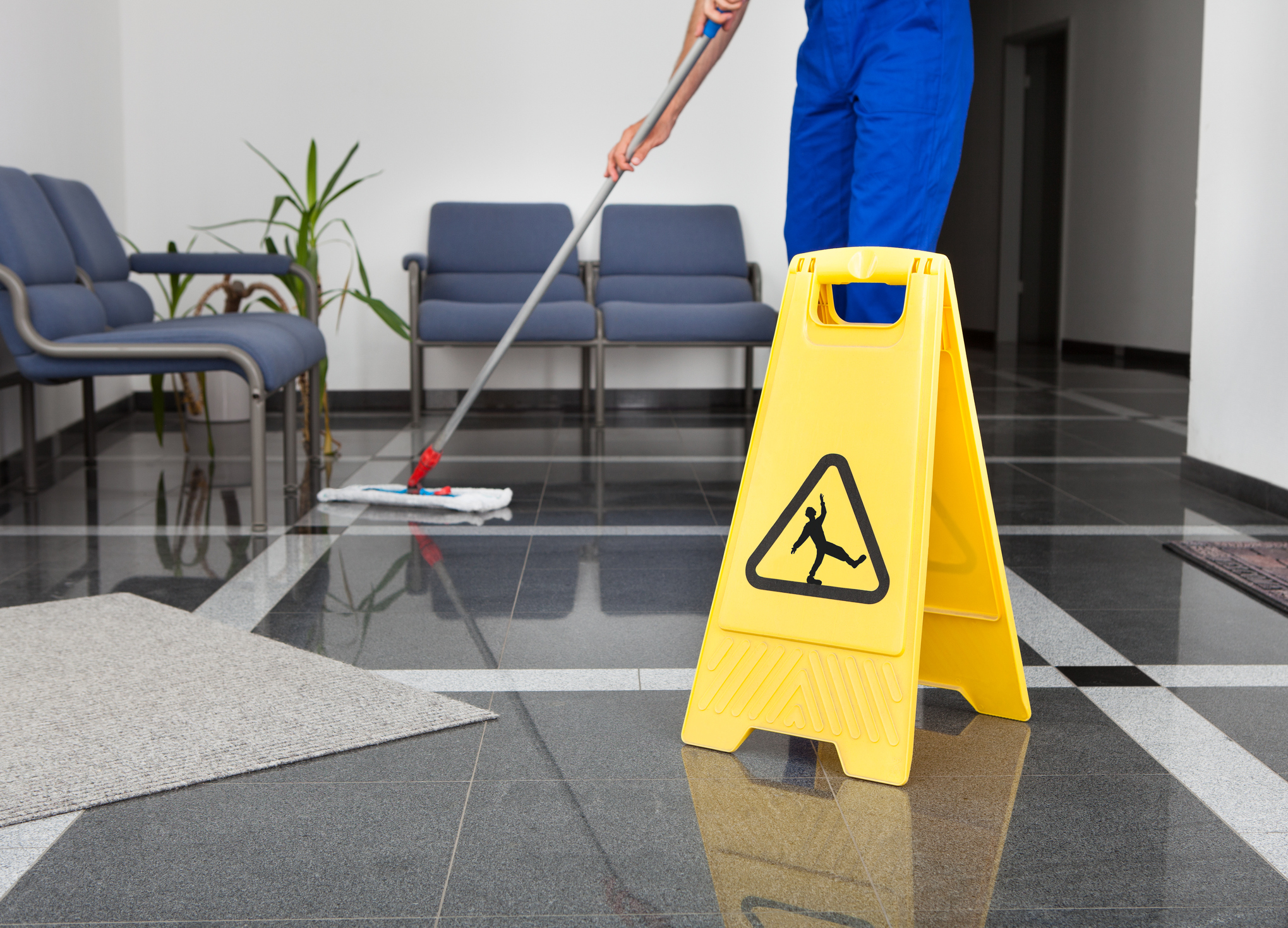 FLOOR AREA PREPARATION  - Our second step in our process is to prep your floor to be serviced. In this step any identified problem area will being to eradicate and floors are ready for the active floor cleaning stage.